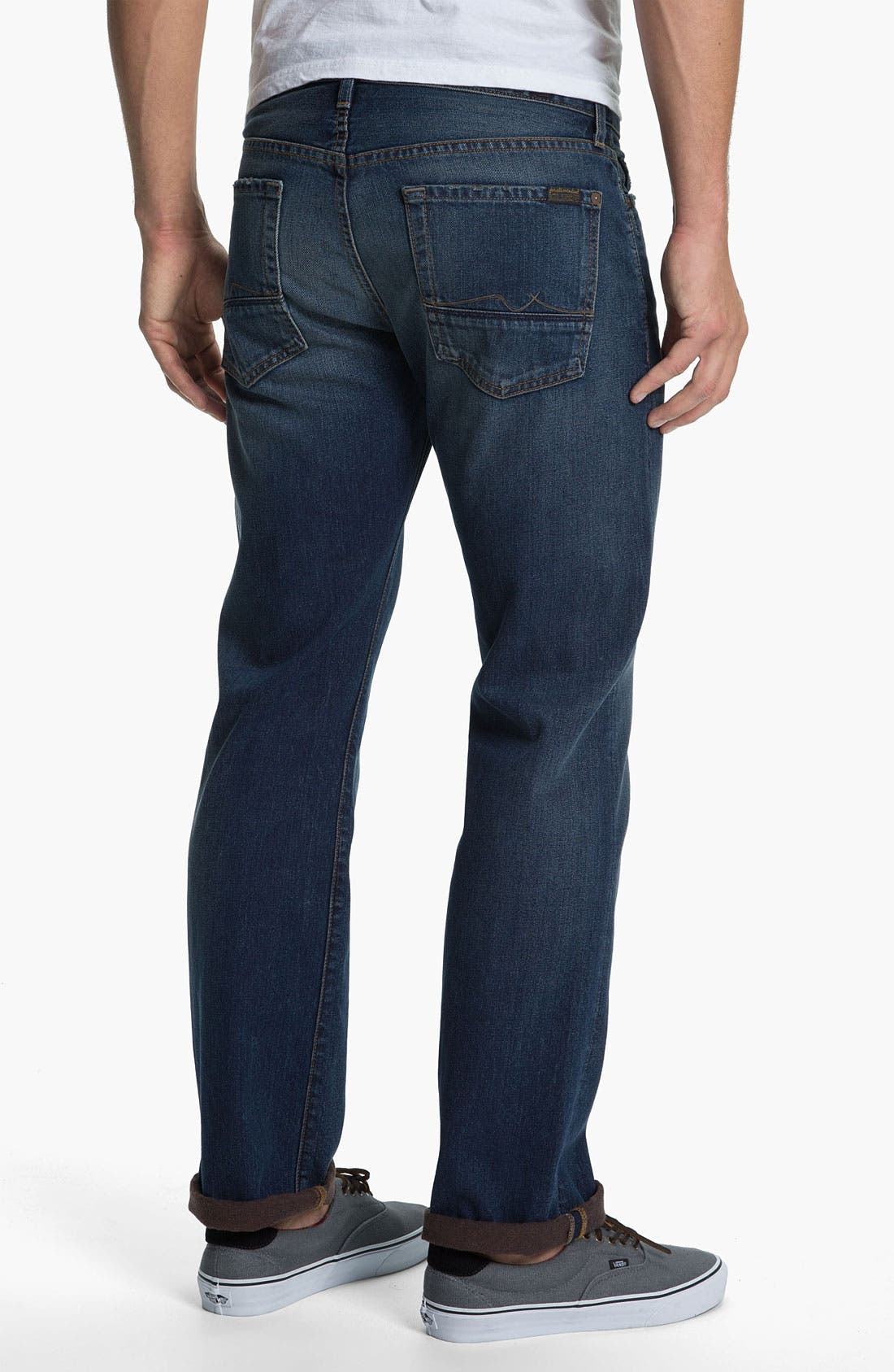 Main Image - 7 For All Mankind® Standard Straight Leg Jeans (Carmel Valley)