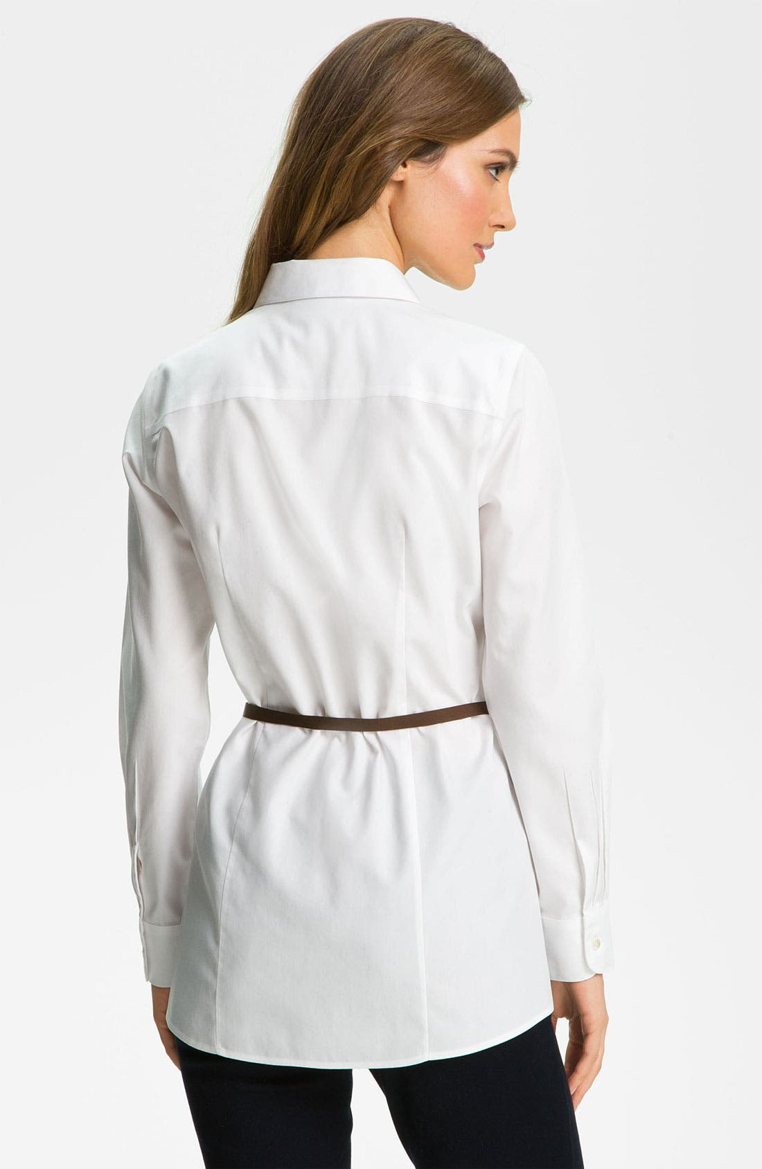 Alternate Image 2  - Foxcroft Belted Tunic Shirt