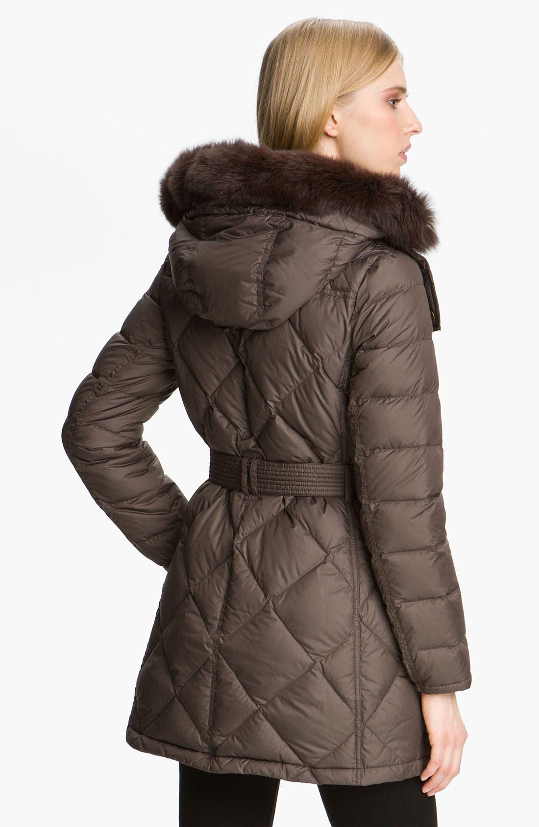Alternate Image 2  - Burberry Brit Genuine Fox Fur Trim Down Coat