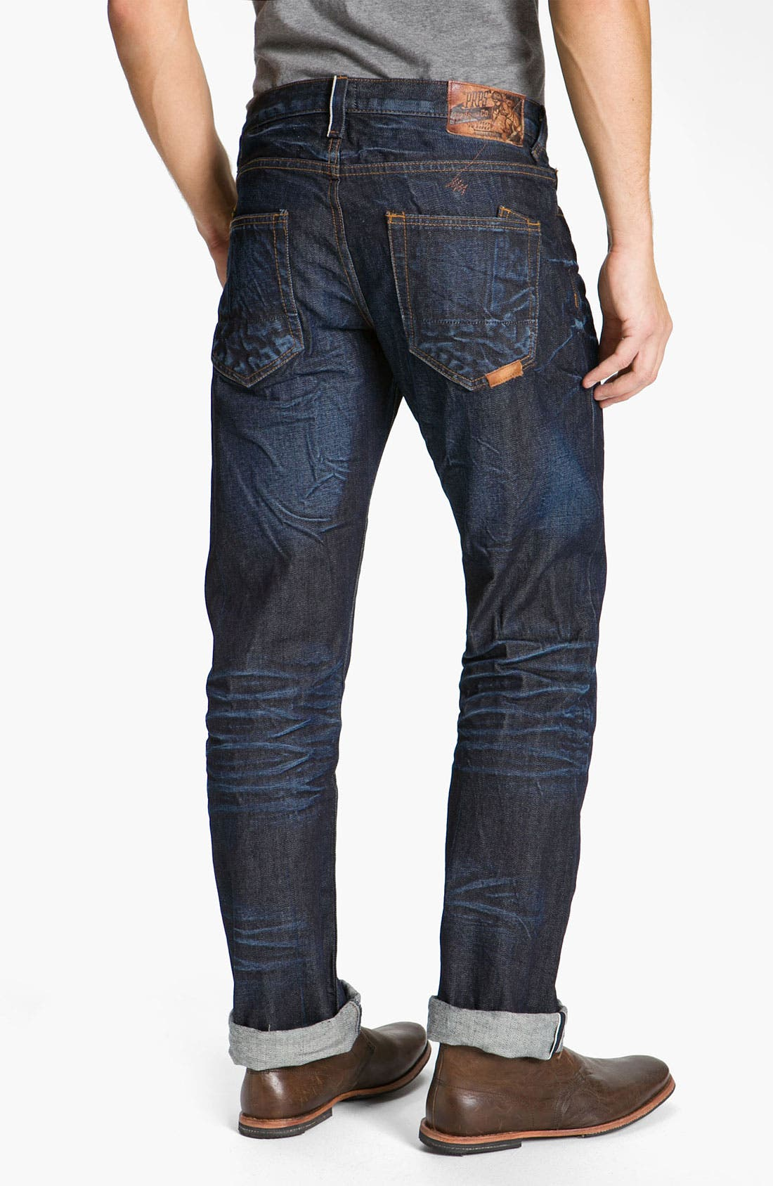 Main Image - PRPS 'Snowy Crevasses Barracuda' Straight Leg Jeans (1 Year Wash)