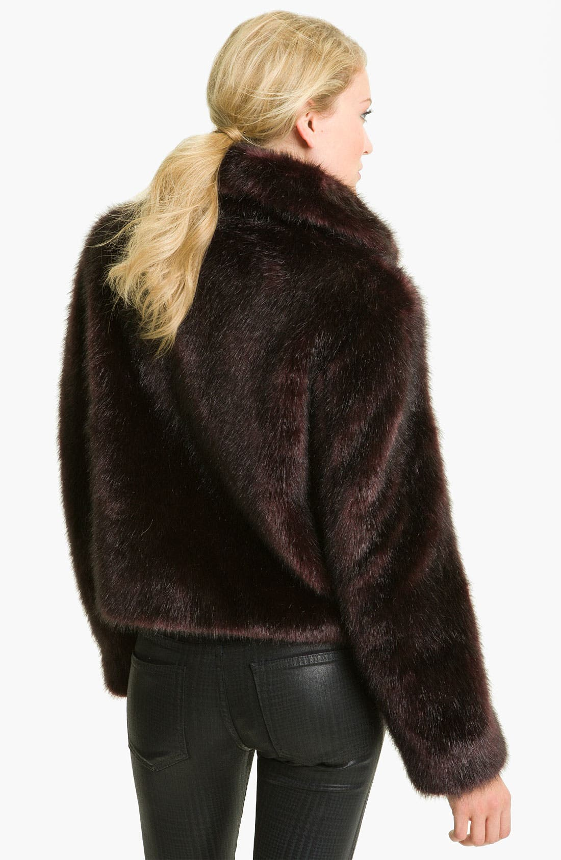 Alternate Image 2  - Gallery Faux Fox Fur Jacket