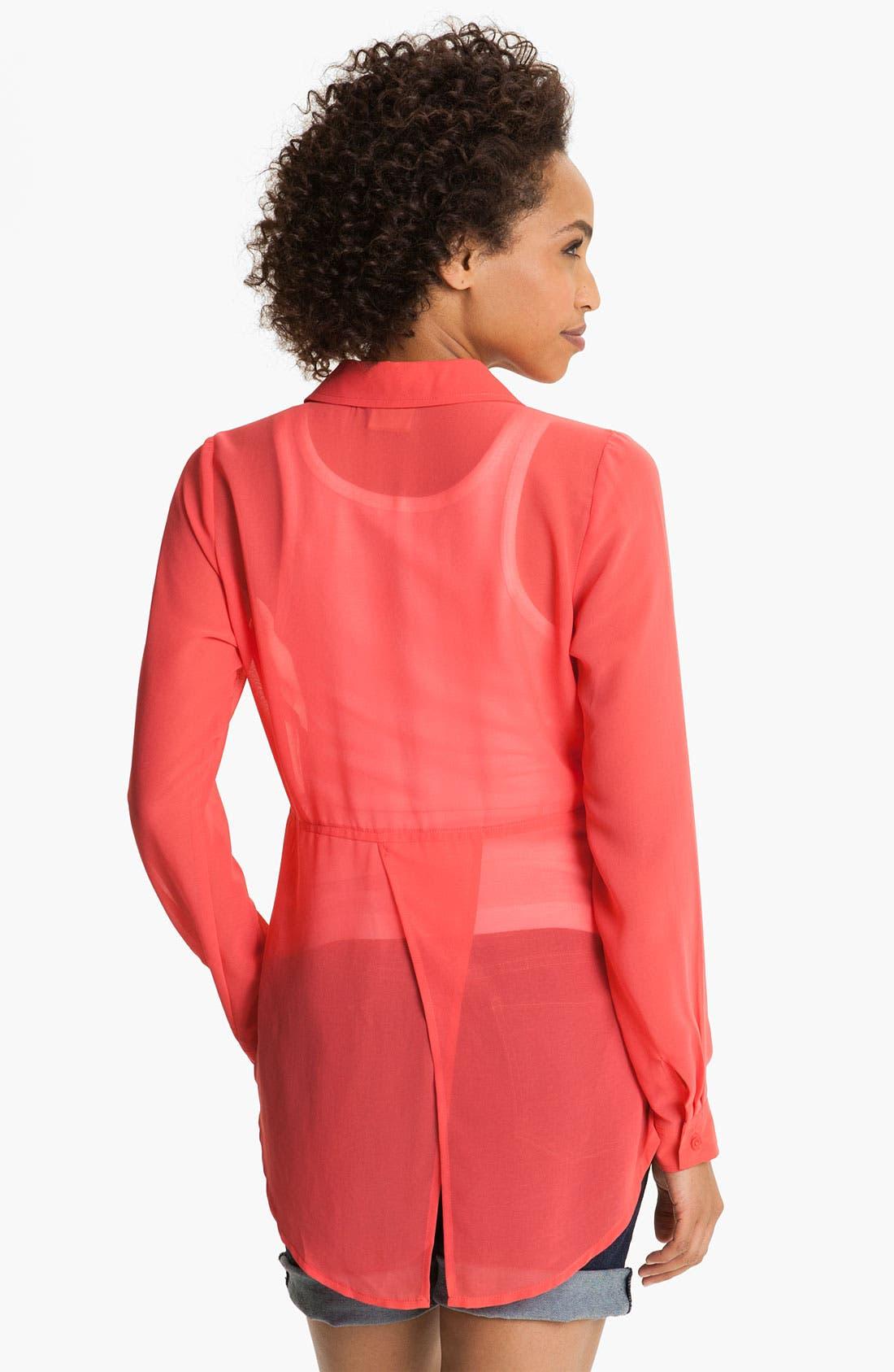 Alternate Image 2  - MOD.lusive Sheer Split Back Shirt (Nordstrom Exclusive)