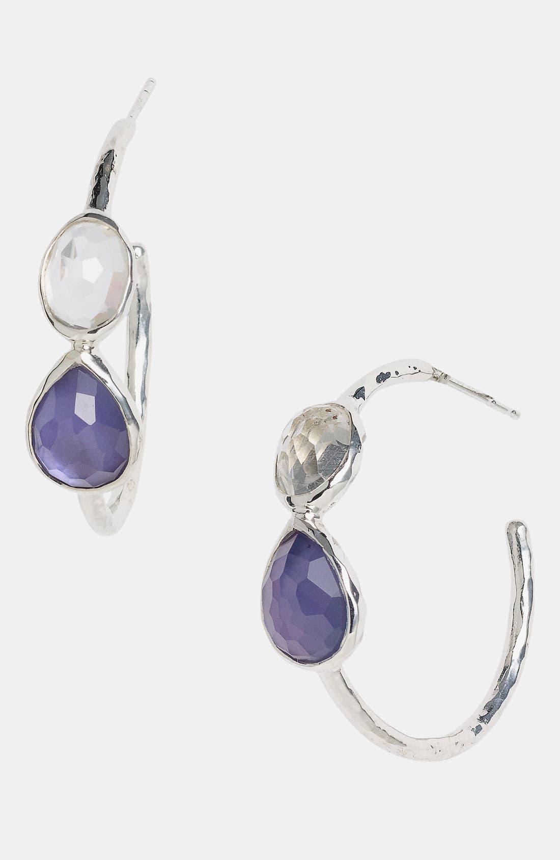 Alternate Image 1 Selected - Ippolita 'Gelato' Two-Stone Small Hoop Earrings (Nordstrom Exclusive)