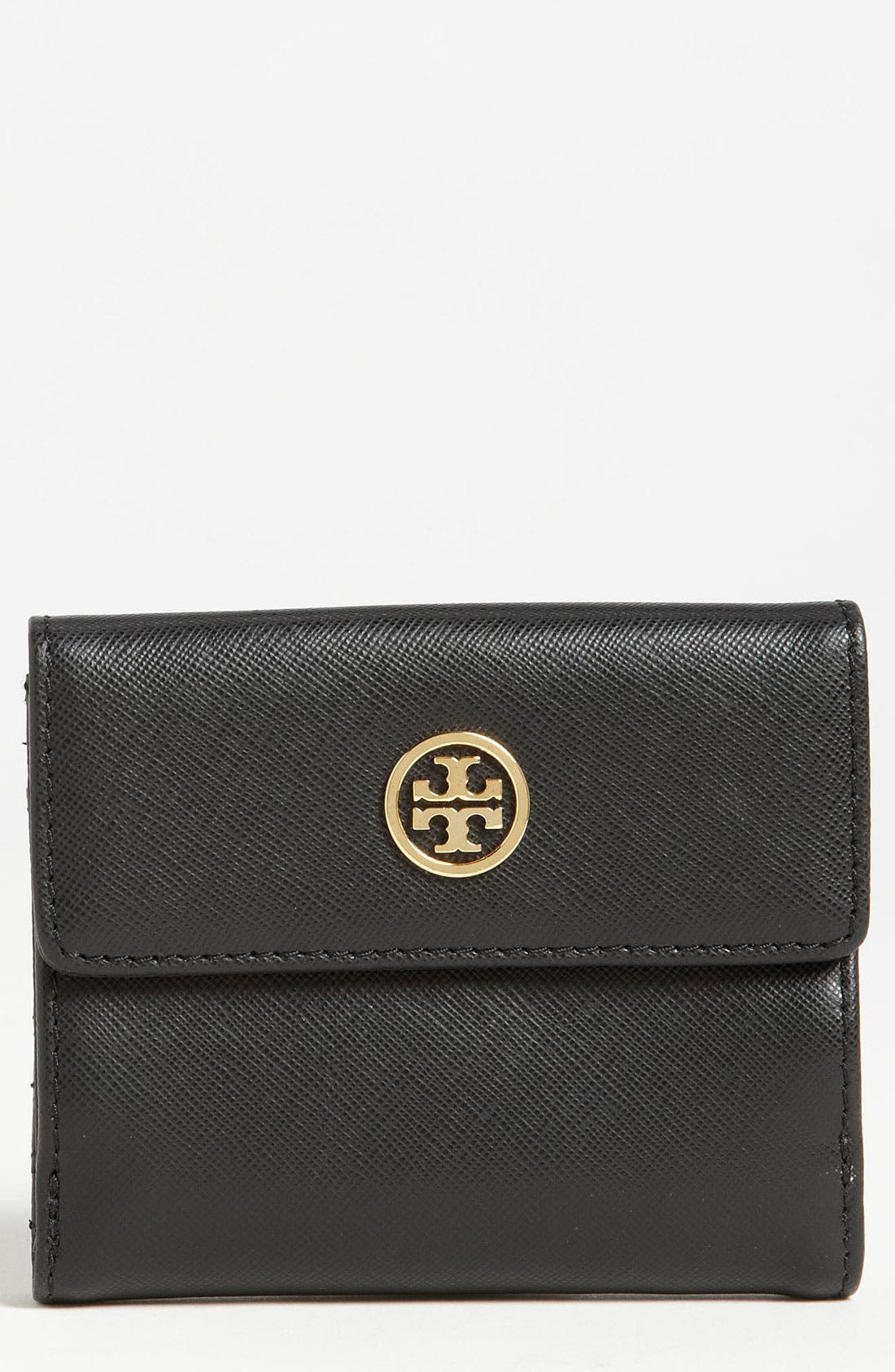 Main Image - Tory Burch 'Robinson' Double Flap French Wallet