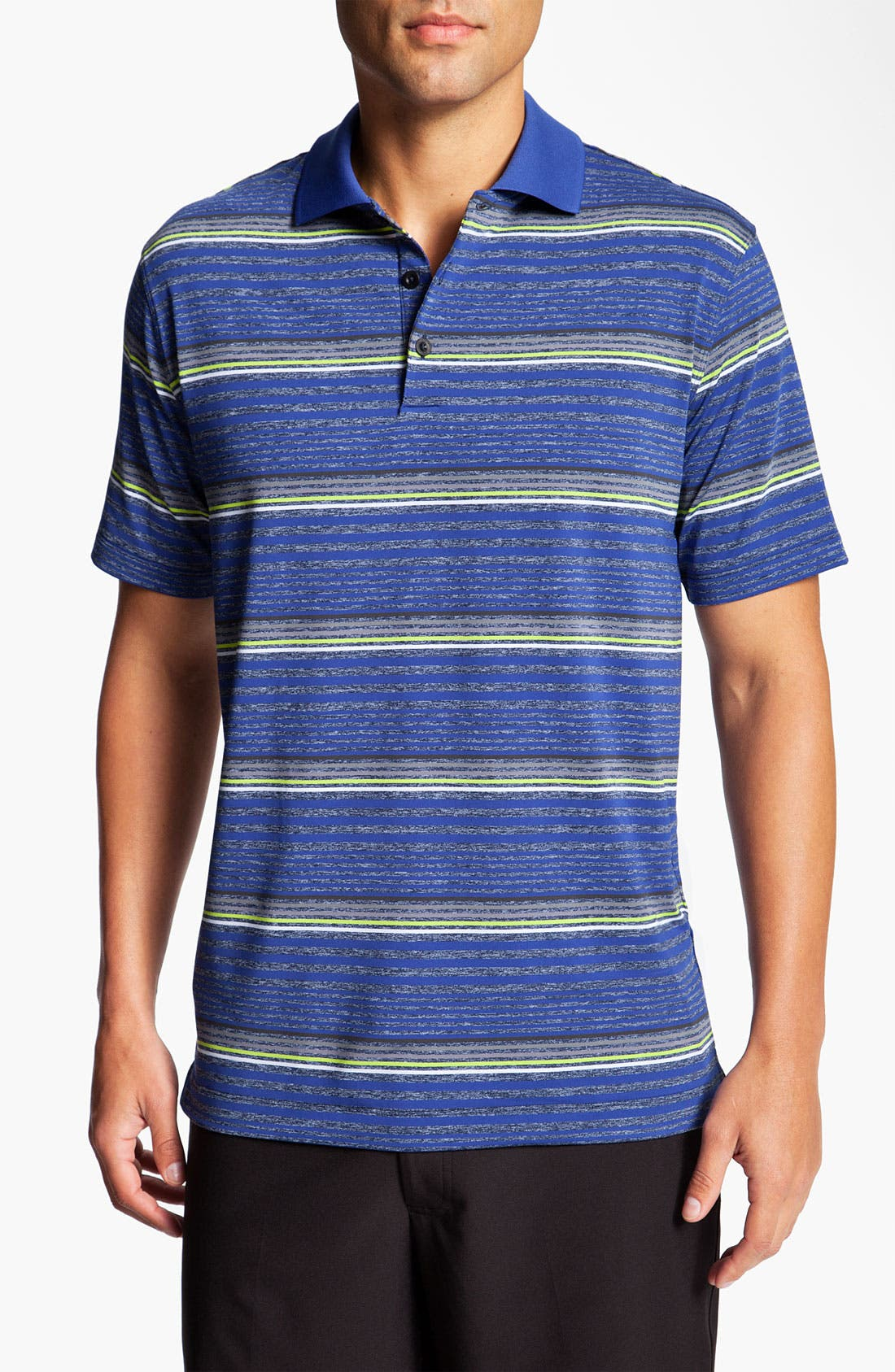 Alternate Image 1 Selected - Nike Golf 'Fashion Stripe' Dri-FIT Polo