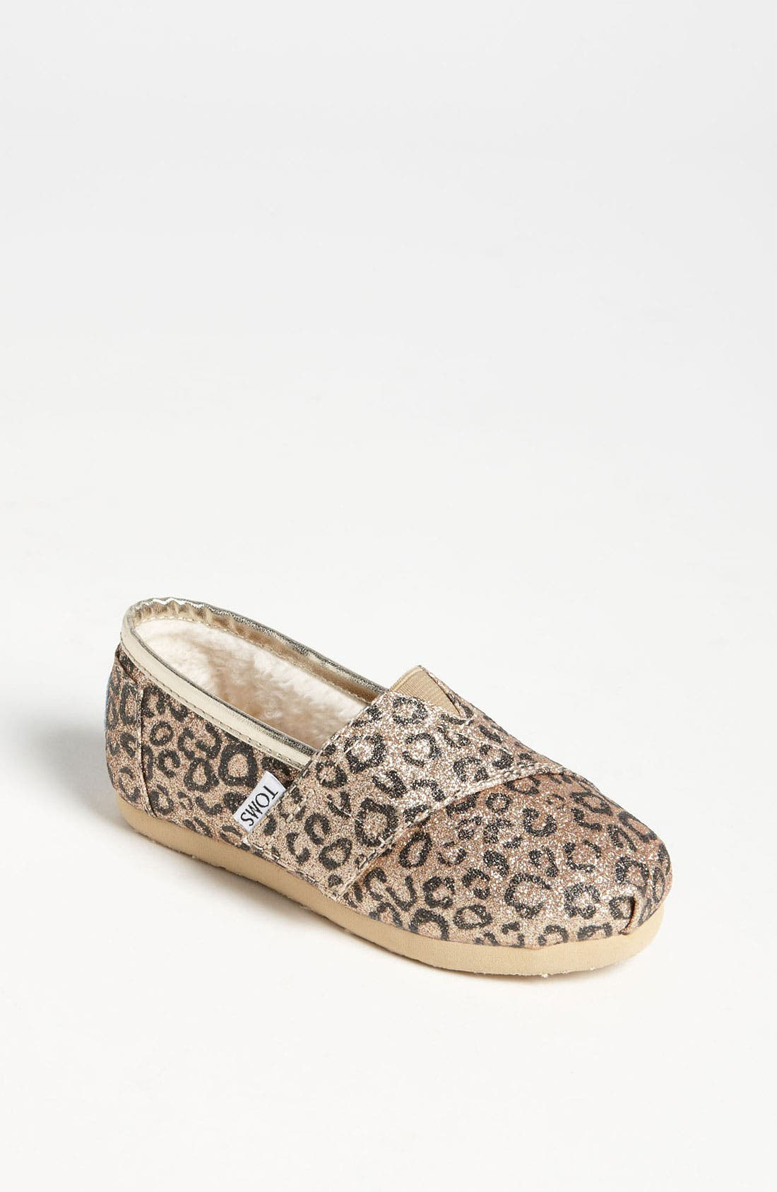 Main Image - TOMS 'Classic Tiny - Glitter' Print Slip-On (Baby, Walker & Toddler) (Nordstrom Exclusive)