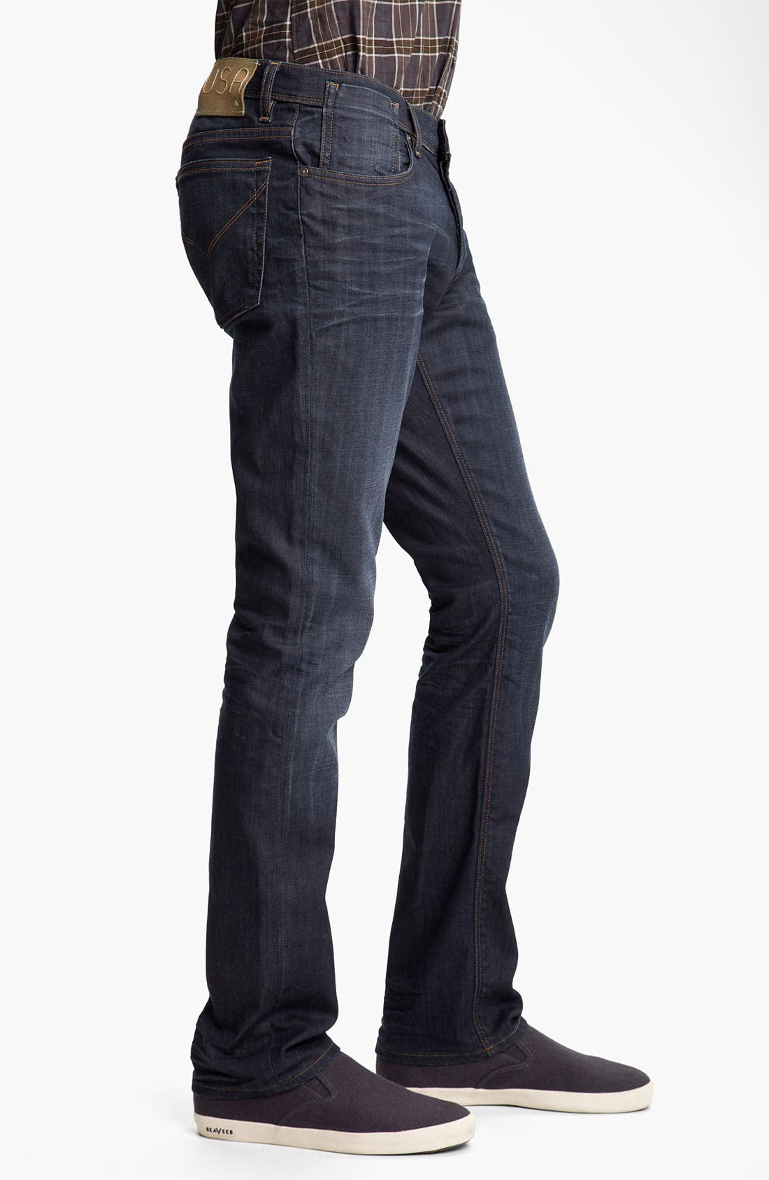 Alternate Image 3  - John Varvatos 'Authentic' Straight Leg Jeans (River Blue)