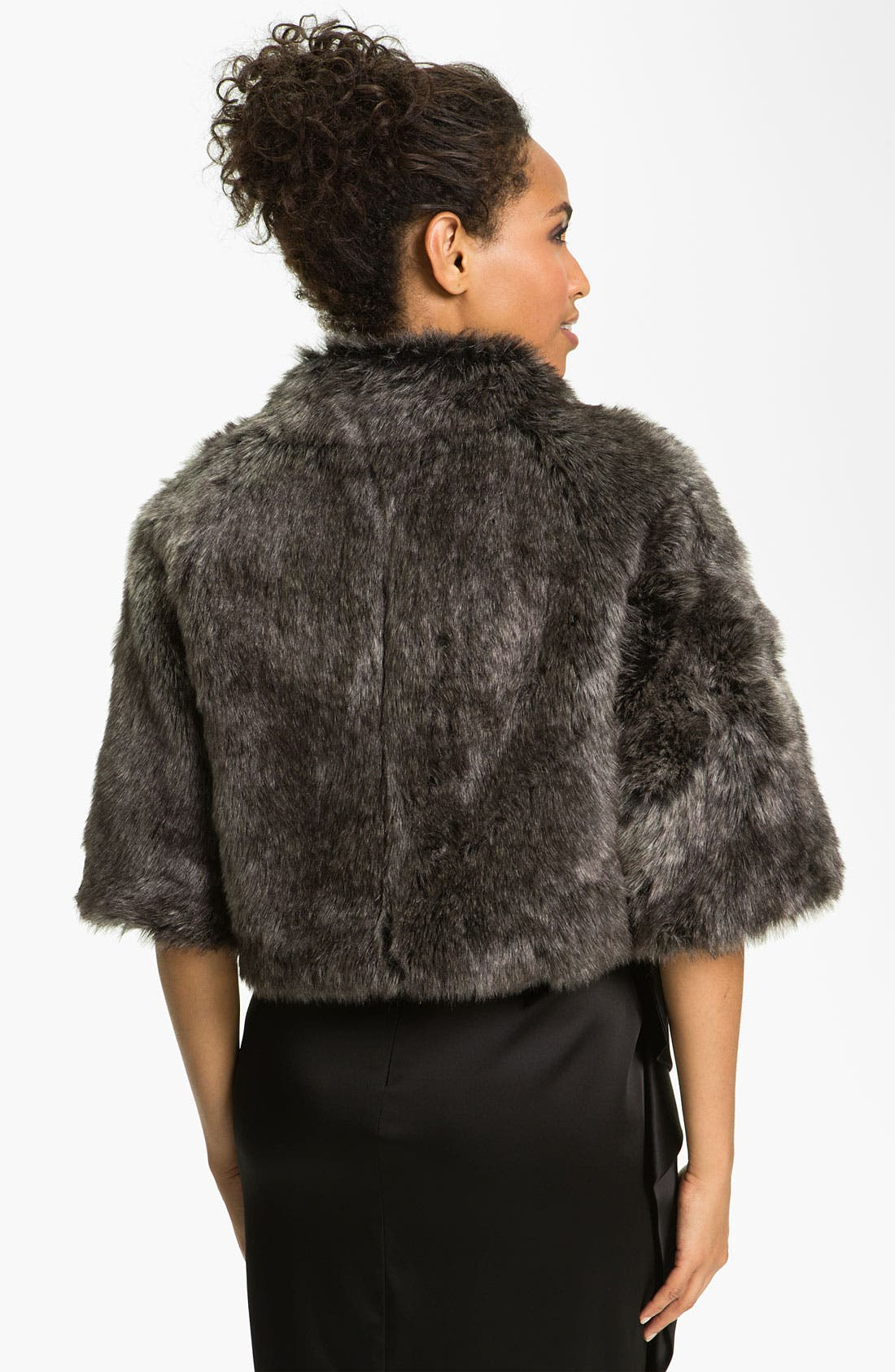 Alternate Image 2  - Eliza J Dolman Sleeve Faux Fur Bolero