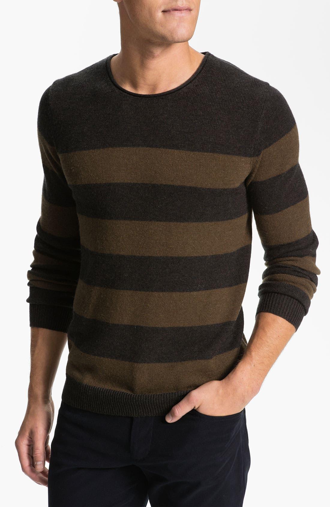 Alternate Image 1 Selected - Vince Stripe Mélange Knit Sweater