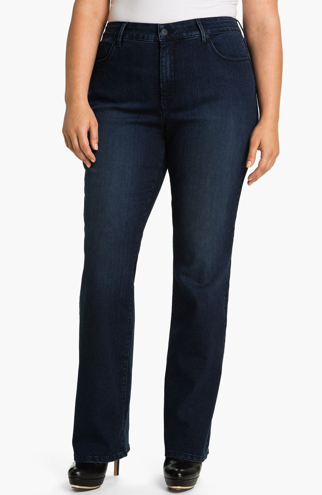 Alternate Image 1 Selected - NYDJ 'Marilyn' Straight Leg Stretch Jeans (Plus)