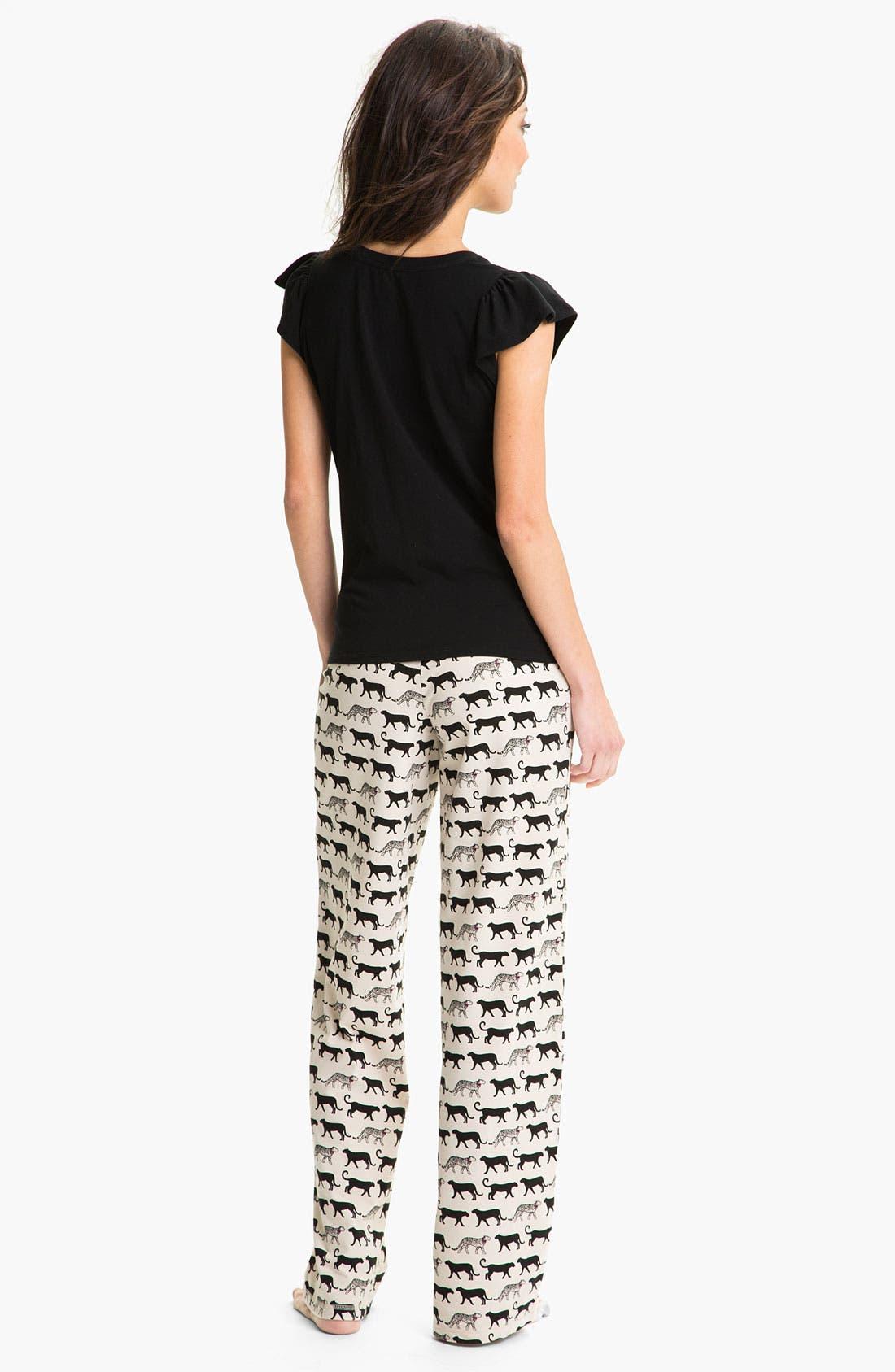 Alternate Image 5  - In Bloom by Jonquil 'Cheetah Tease' Pajama Pants