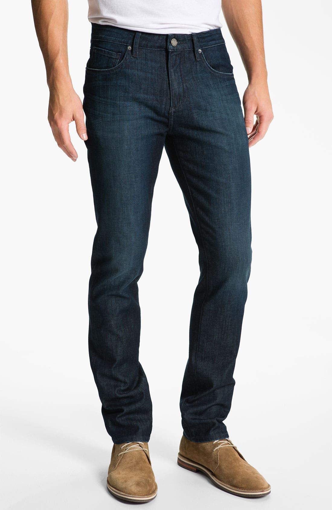 Alternate Image 2  - PAIGE 'Normandie' Slim Straight Leg Jeans (Warrior)