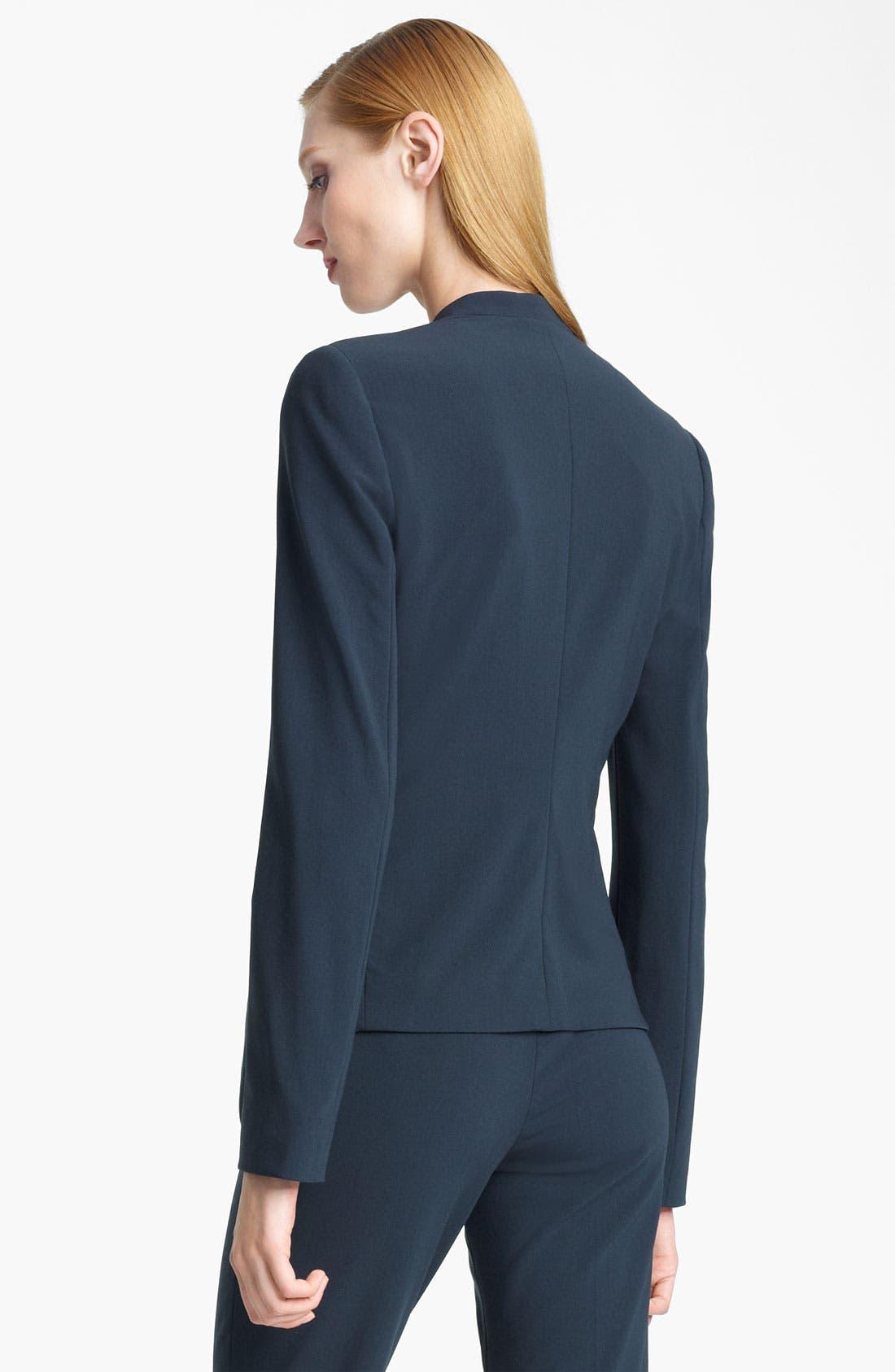 Alternate Image 2  - Armani Collezioni Collarless Crepe Jacket
