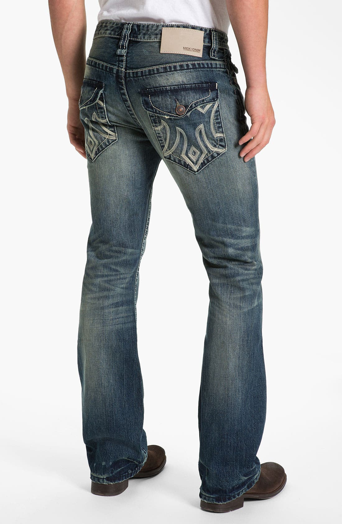 Main Image - MEK Denim 'Oaxaca' Slim Bootcut Jeans (Medium Blue)