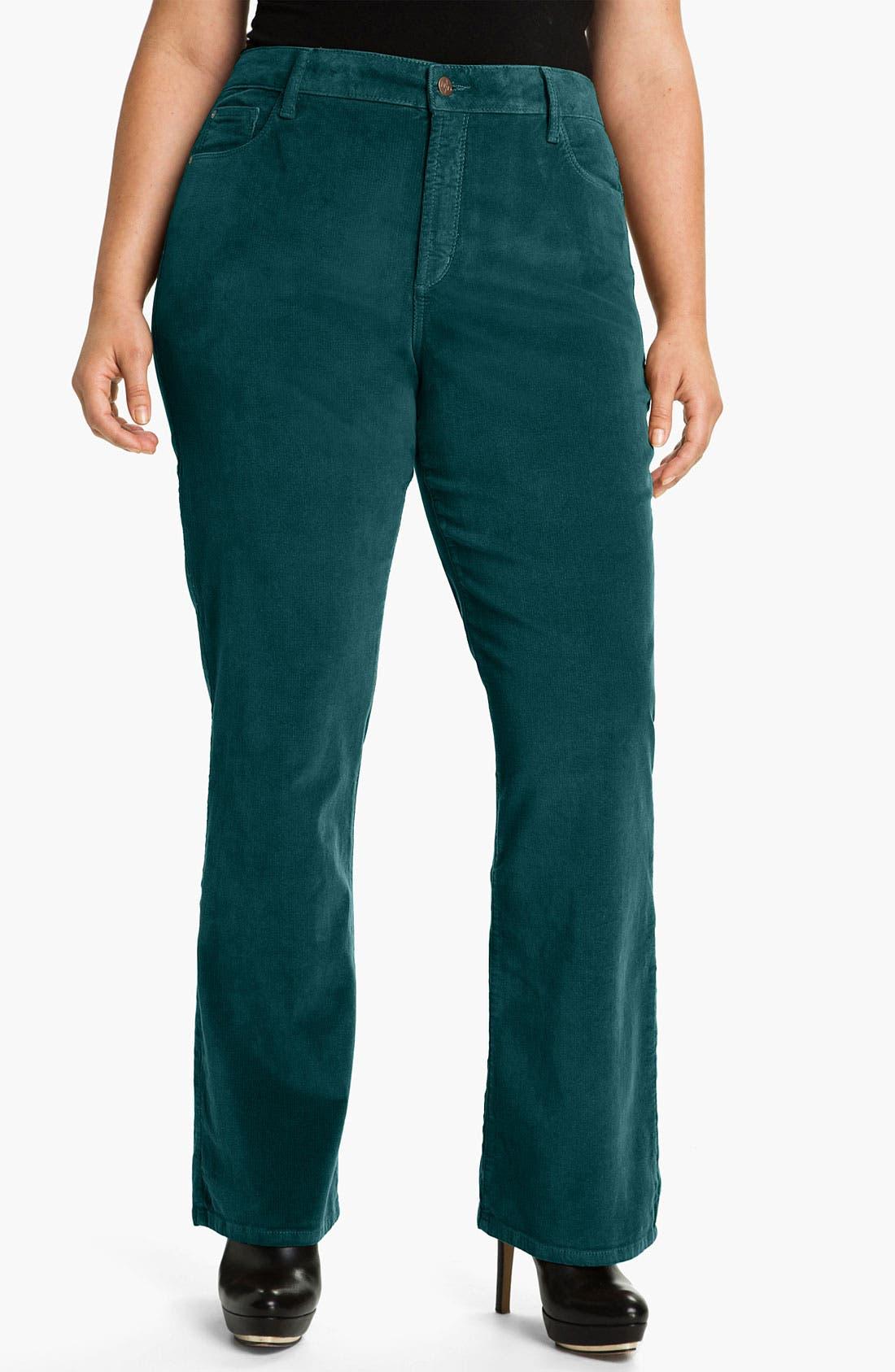 Main Image - NYDJ 'Barbara' Bootcut Corduroy Pants (Plus)