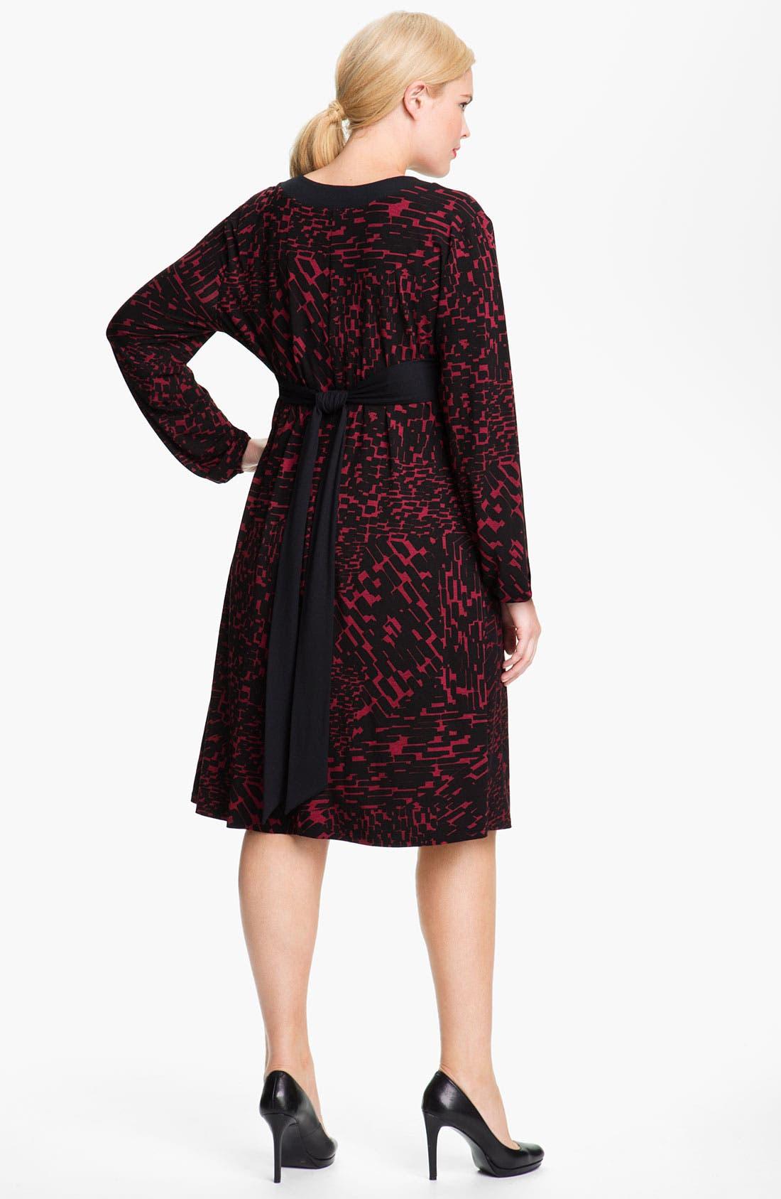 Alternate Image 2  - Three Dots 'Boheme' V Neck Knit Dress (Plus)