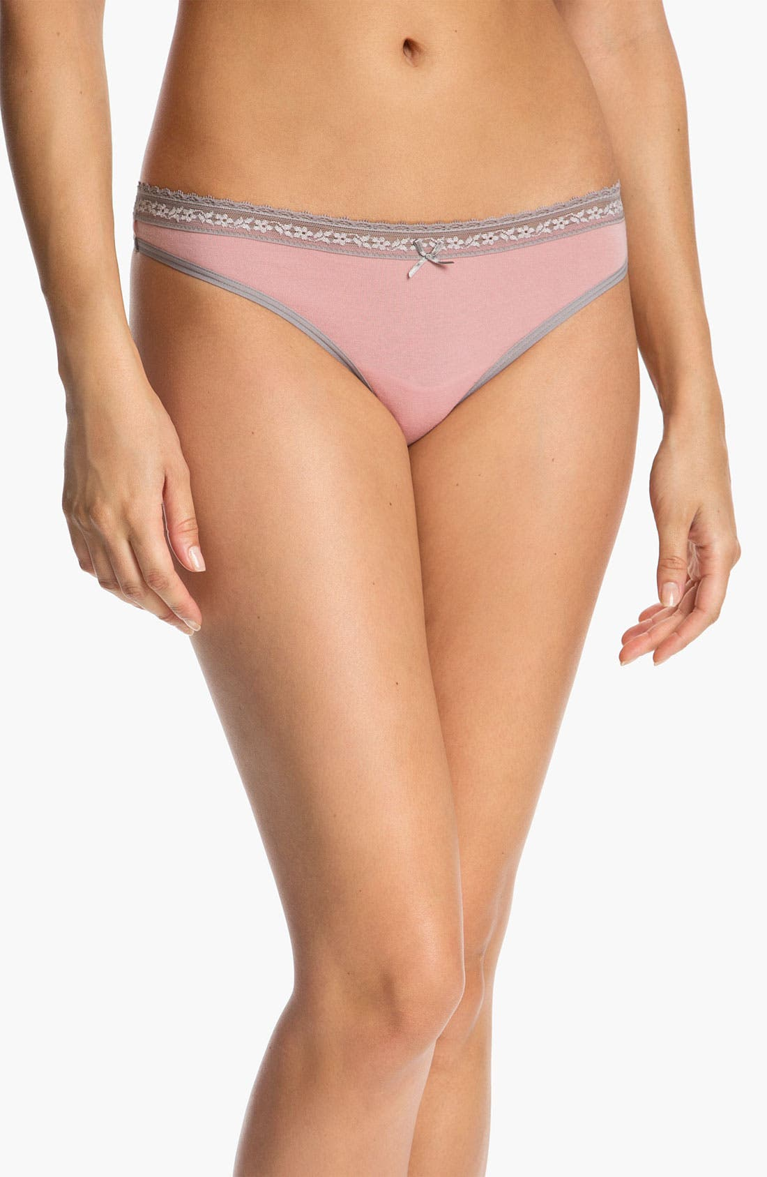Alternate Image 1 Selected - DKNY 'Delicate Essentials' Thong