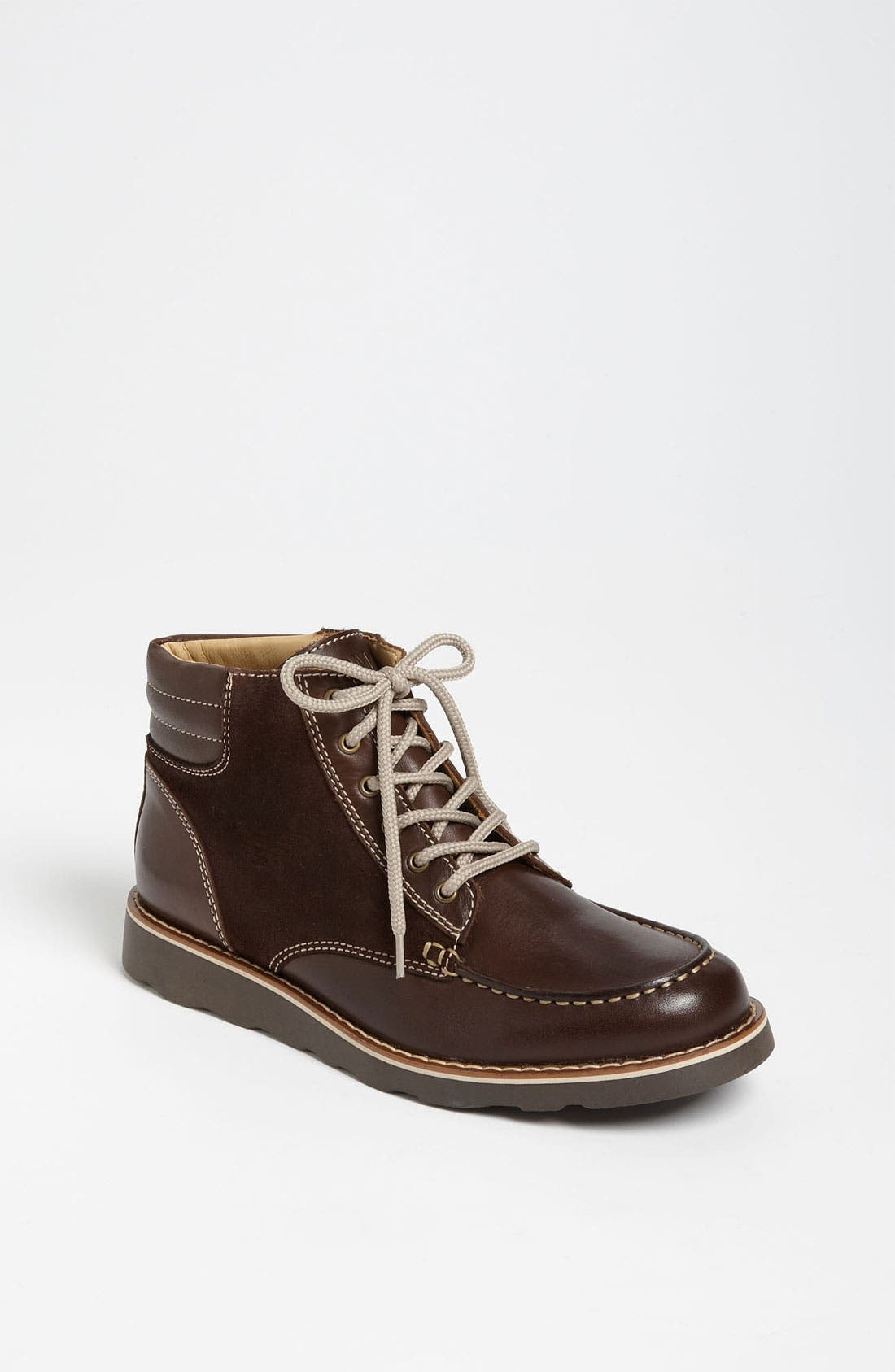Alternate Image 1 Selected - Armani Junior Leather Boot (Toddler, Little Kid & Big Kid)
