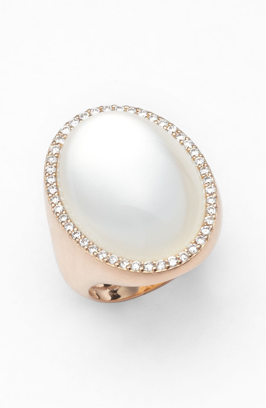 Main Image - Roberto Coin Diamond & Mother of Pearl Doublet Ring
