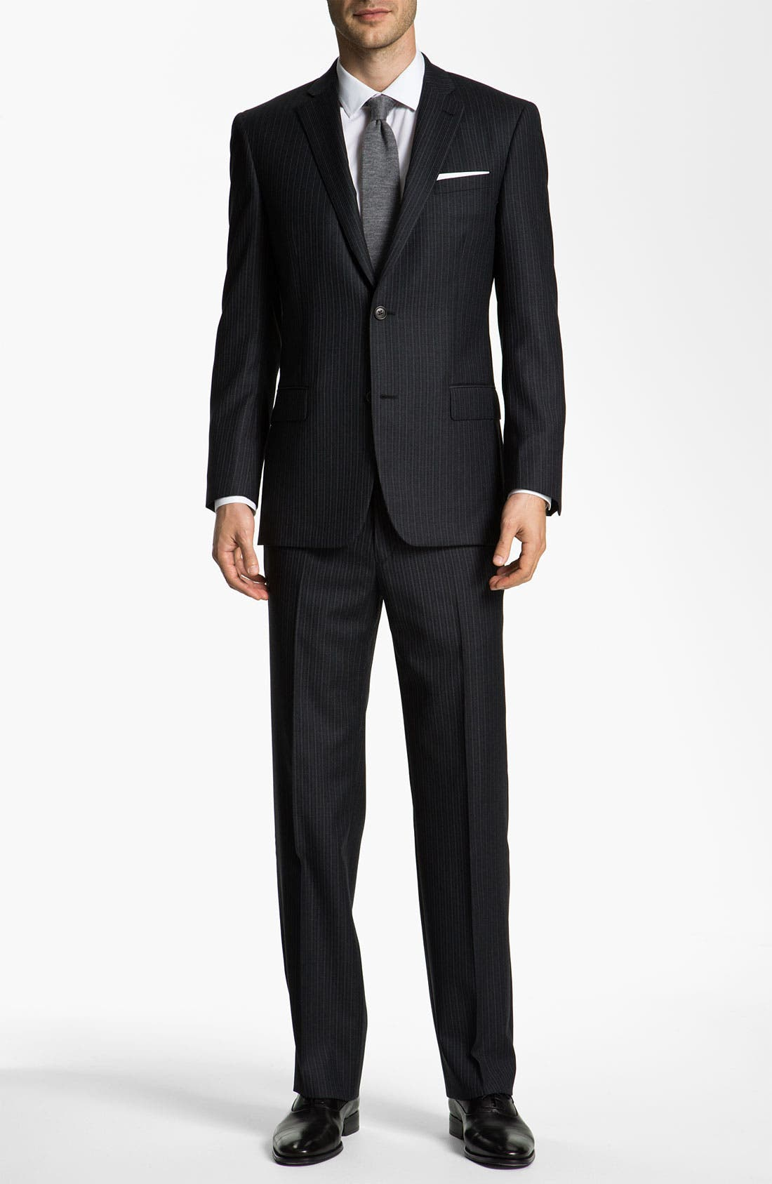 Alternate Image 2  - John Varvatos Star USA 'Bedford' Trim Fit Stripe Suit