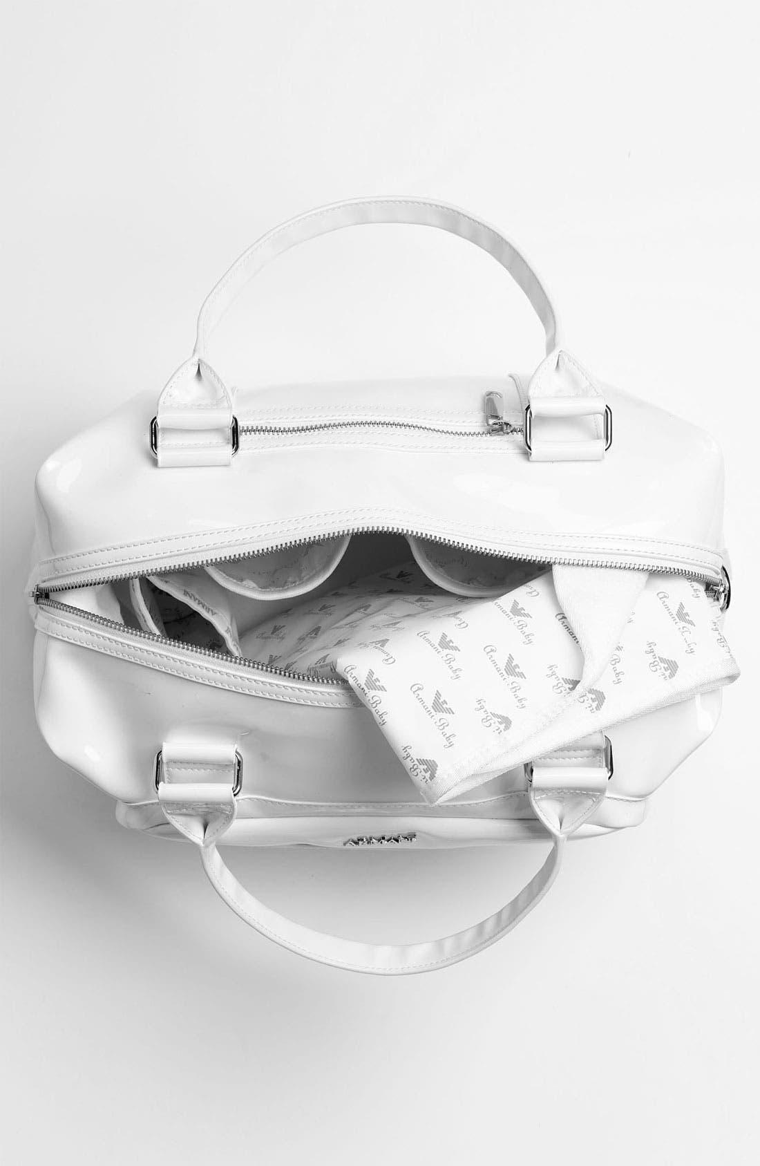 Alternate Image 3  - Armani Junior Patent Diaper Bag