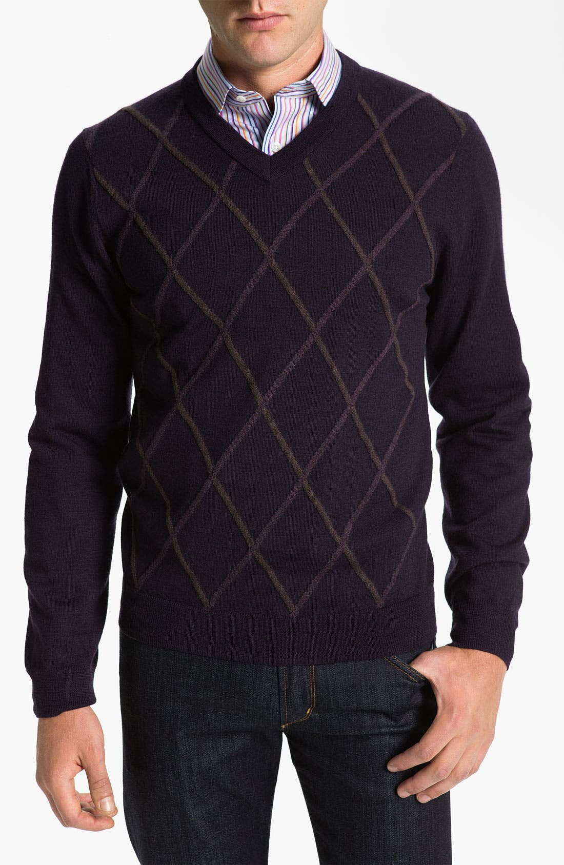 Main Image - Nordstrom 'Raker' V-Neck Merino Wool Sweater