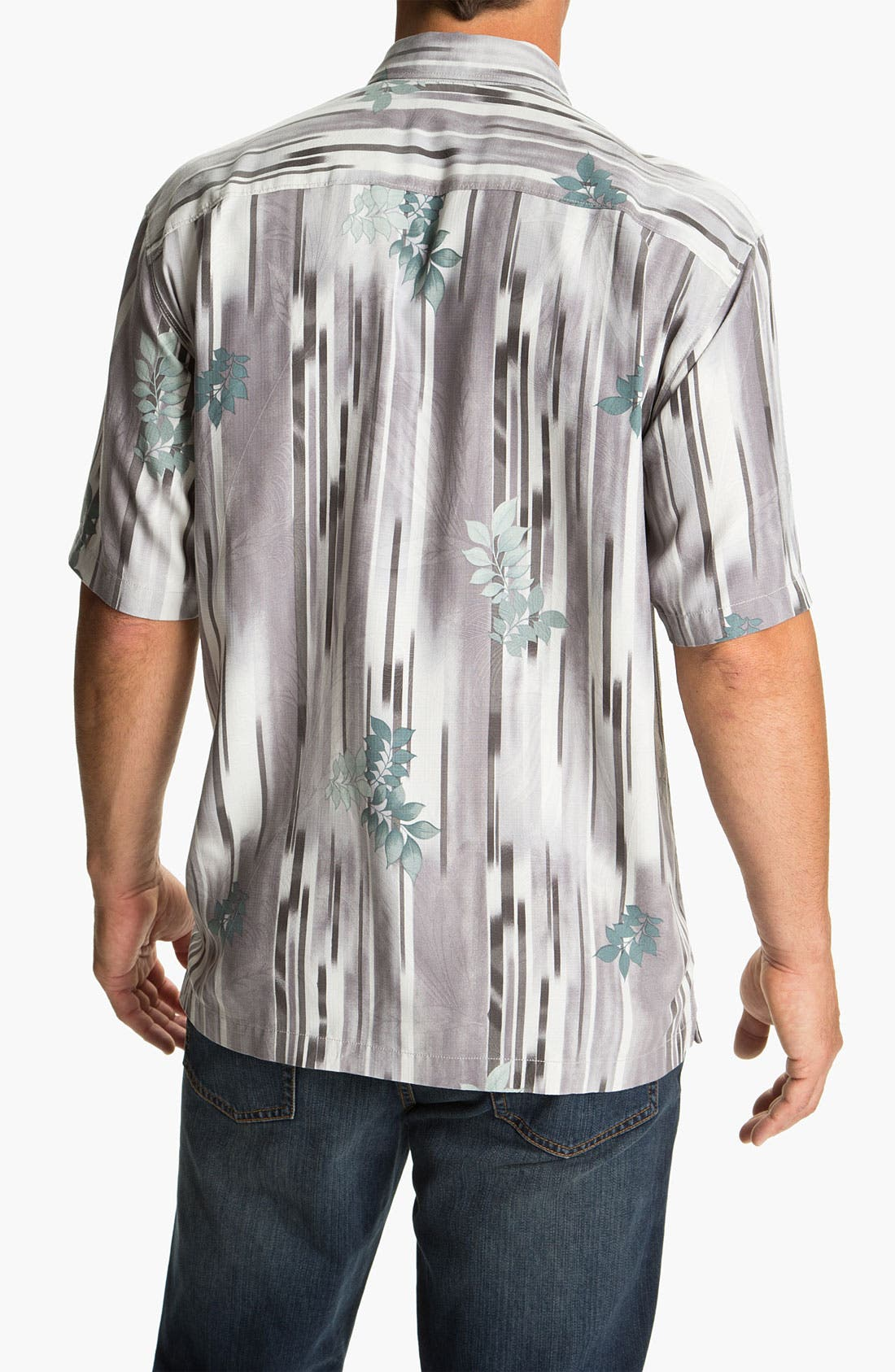 Alternate Image 2  - Tommy Bahama 'Lemongrass Ikat' Silk Campshirt