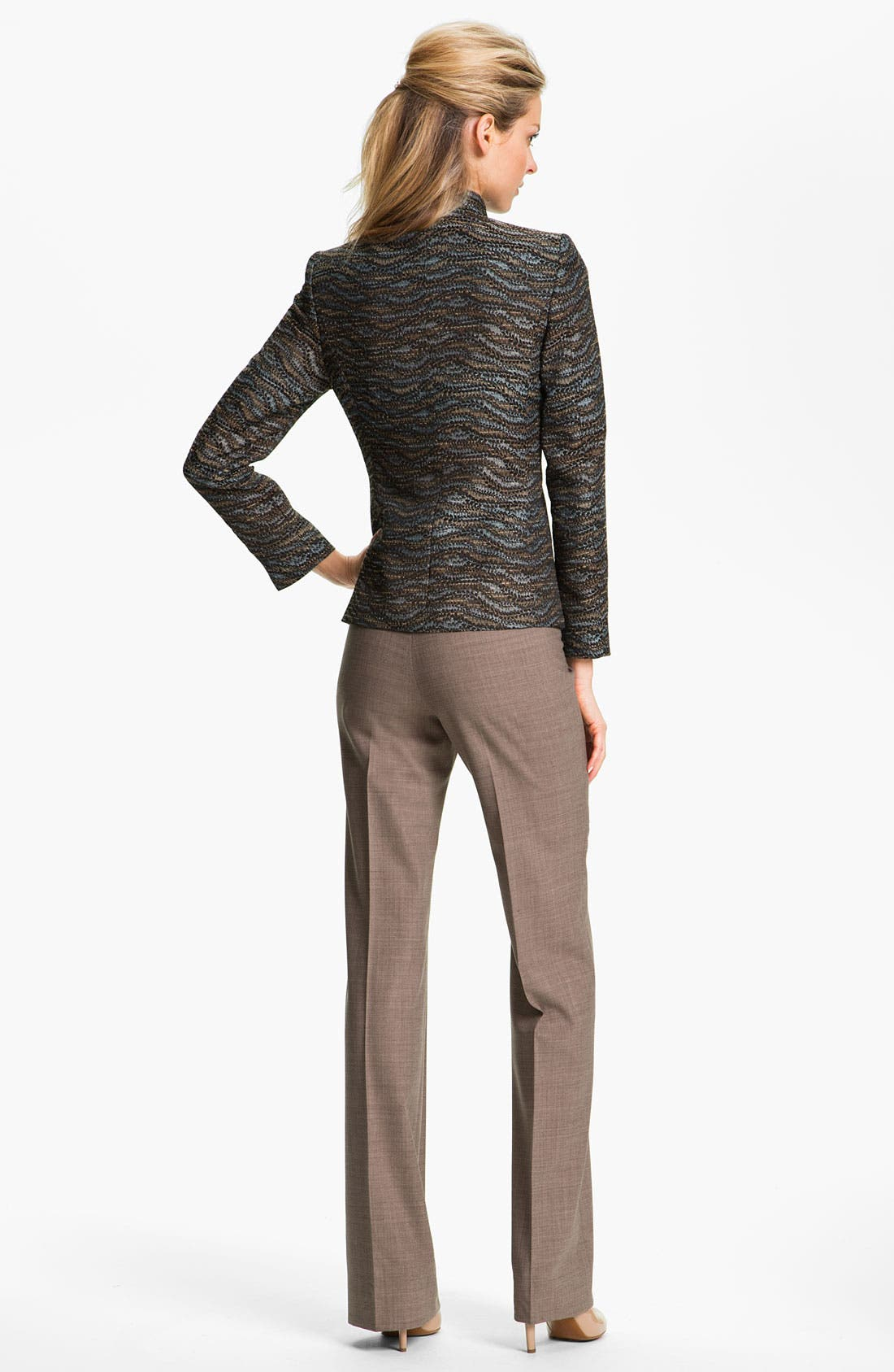 Alternate Image 4  - Santorelli 'Mara' Stretch Wool Pants
