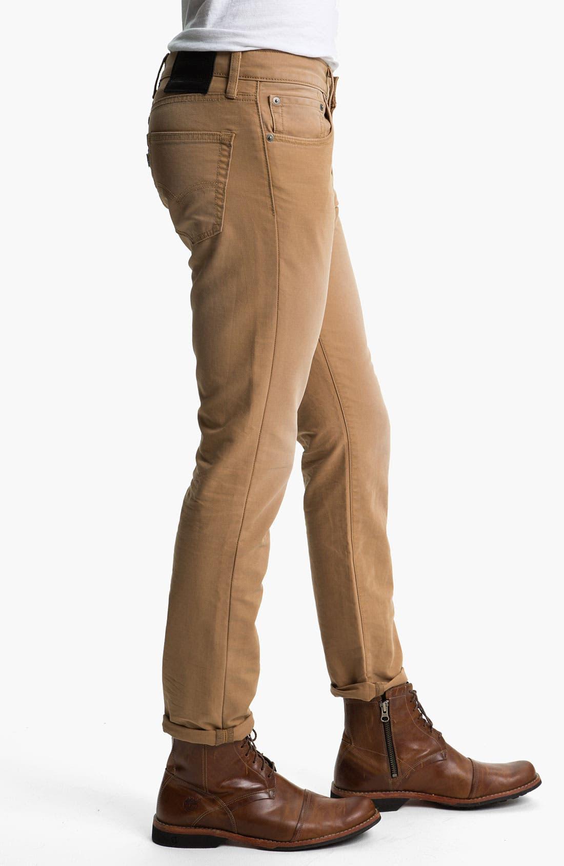 Alternate Image 3  - Levi's® '511™' Skinny Leg Jeans (Heavy Dobby Caraway)