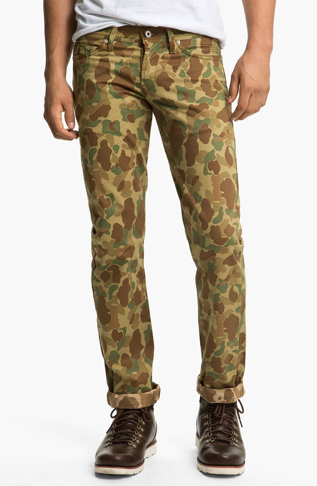 Alternate Image 2  - Naked & Famous Denim 'Weird Guy' Dual Camo Print Slim Tapered Leg Pants