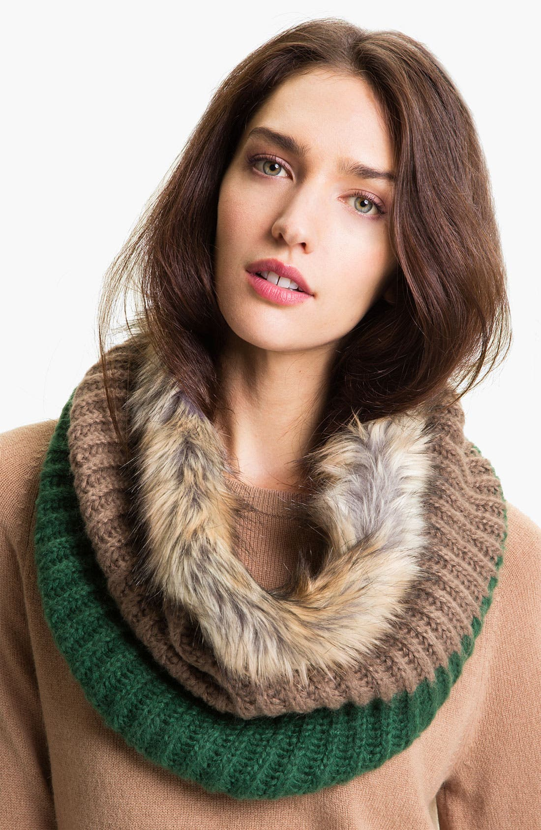 Alternate Image 1 Selected - Big Buddha Faux Fur Infinity Scarf