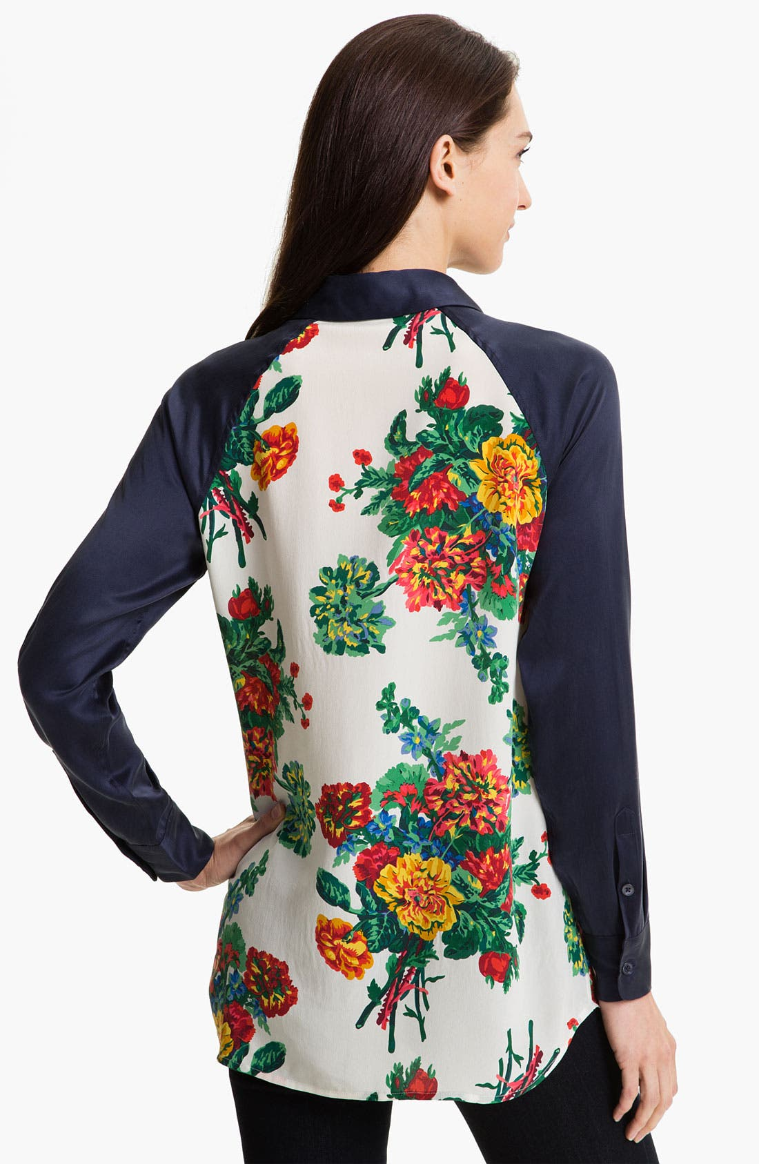 Alternate Image 2  - Equipment 'Venetian Bouquet' Silk Blouse (Online Exclusive)