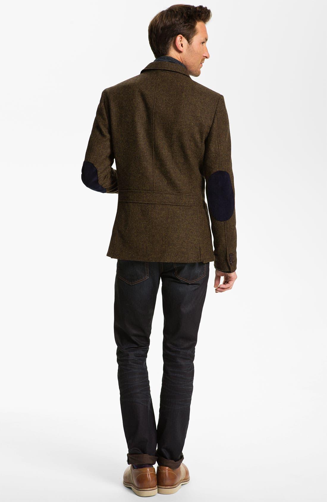 Alternate Image 6  - John Varvatos 'Bowery' Slim Straight Leg Jeans (Ink)