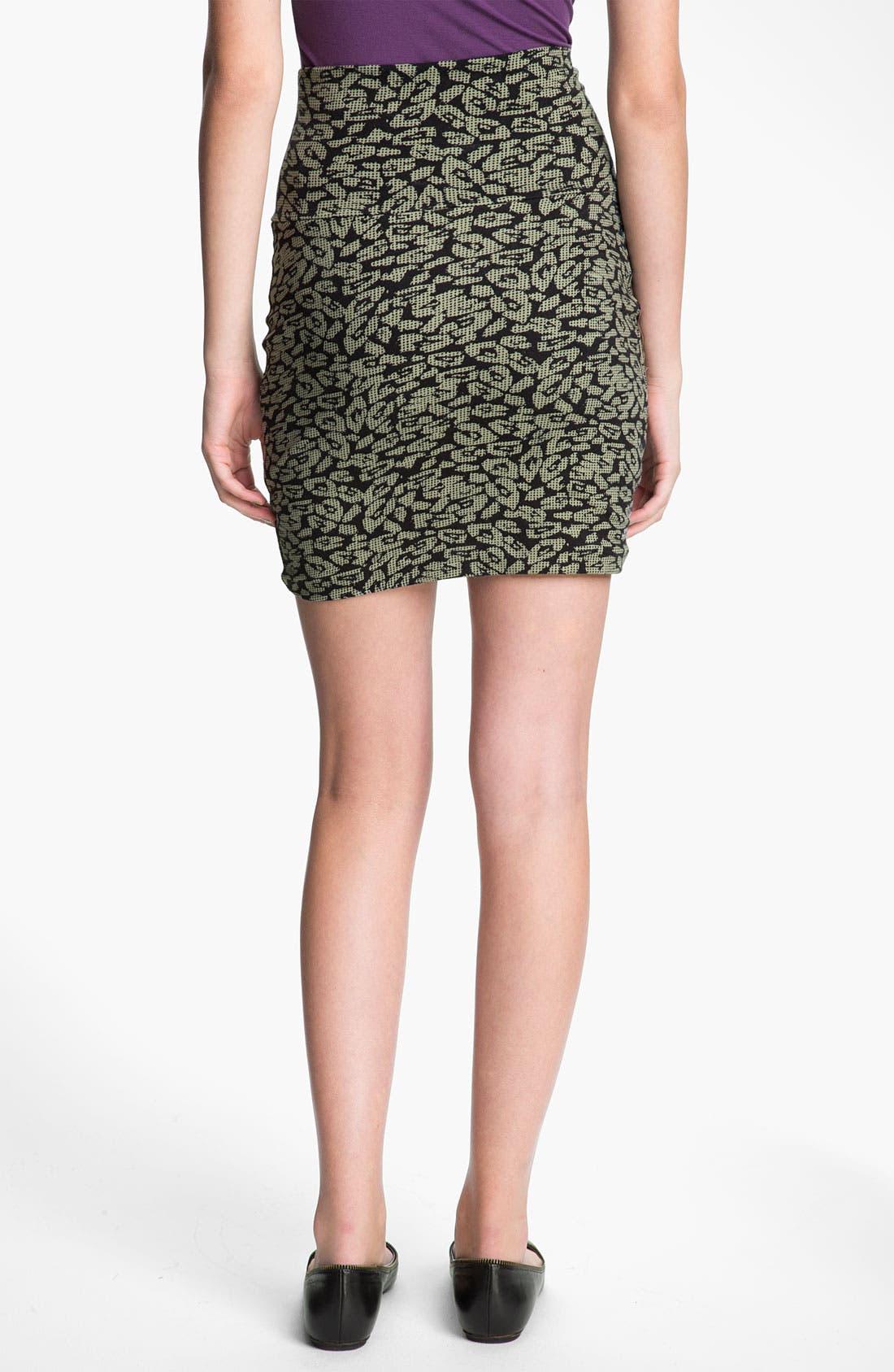Alternate Image 2  - Lily White Bandage Miniskirt (Juniors)