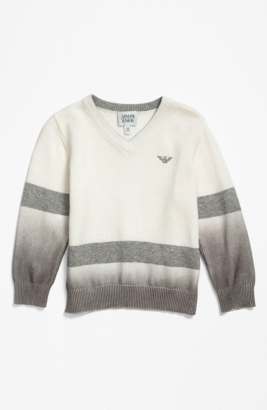 Main Image - Armani Junior V-Neck Sweater (Little Boys)