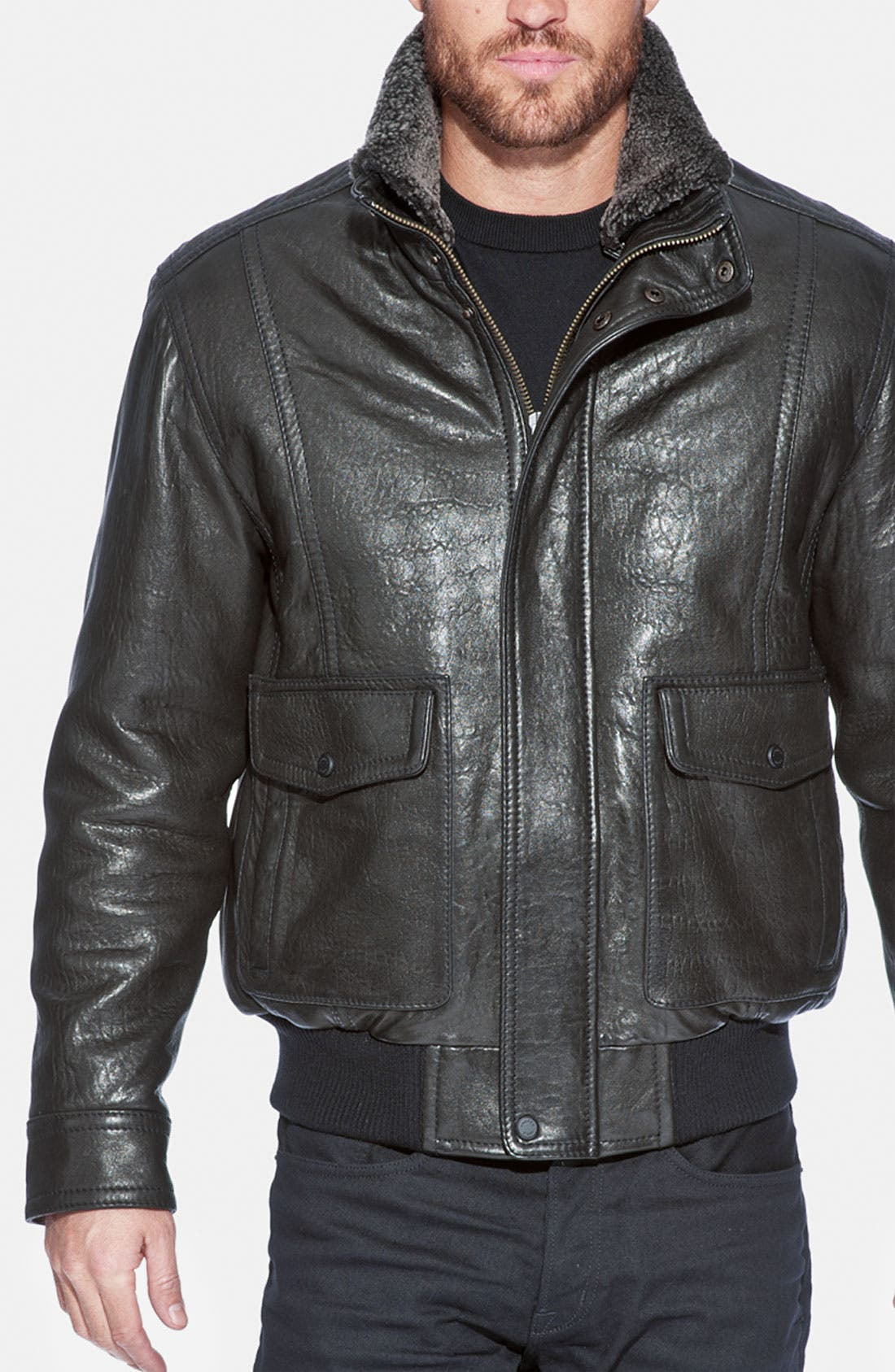 Main Image - Andrew Marc 'Radar' Leather Jacket