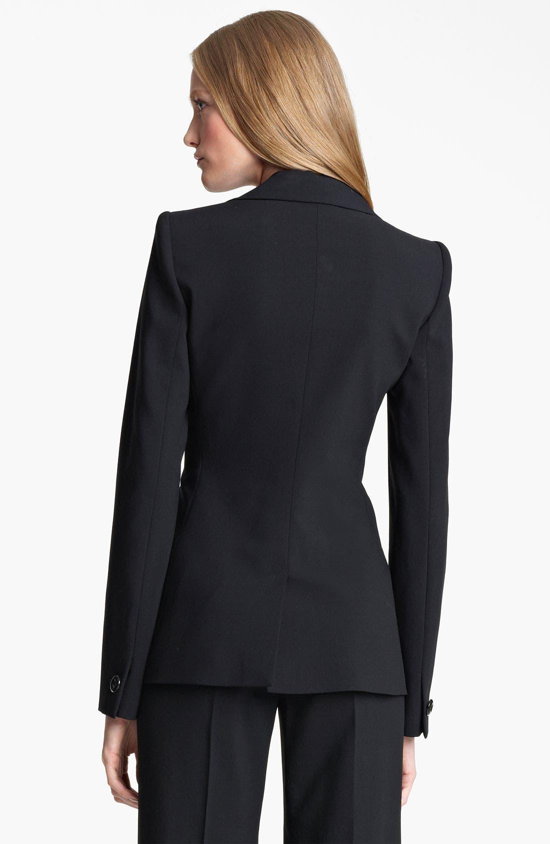 Alternate Image 2  - Armani Collezioni Asymmetrical Featherweight Wool Jacket
