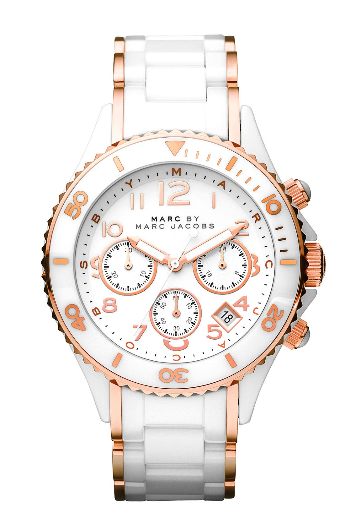 Alternate Image 1 Selected - MARC BY MARC JACOBS 'Rock' Ceramic Chronograph Watch