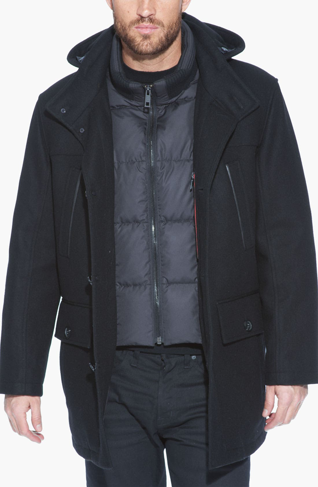 Alternate Image 3  - Andrew Marc 'Weber' Water Resistant Wool Blend Jacket