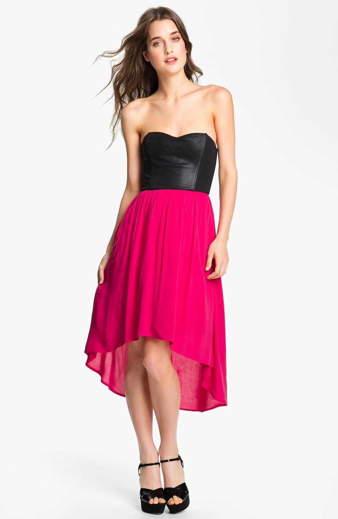 Main Image - Ella Moss 'Roslyn' Colorblock Strapless Dress
