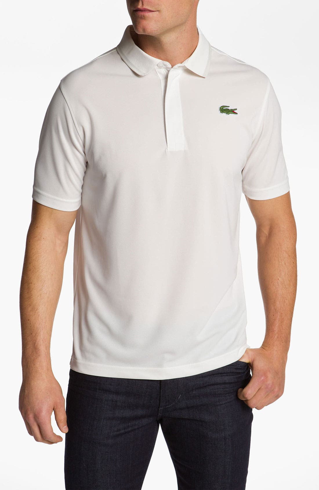 Alternate Image 1 Selected - Lacoste Tipped Pima Cotton Polo