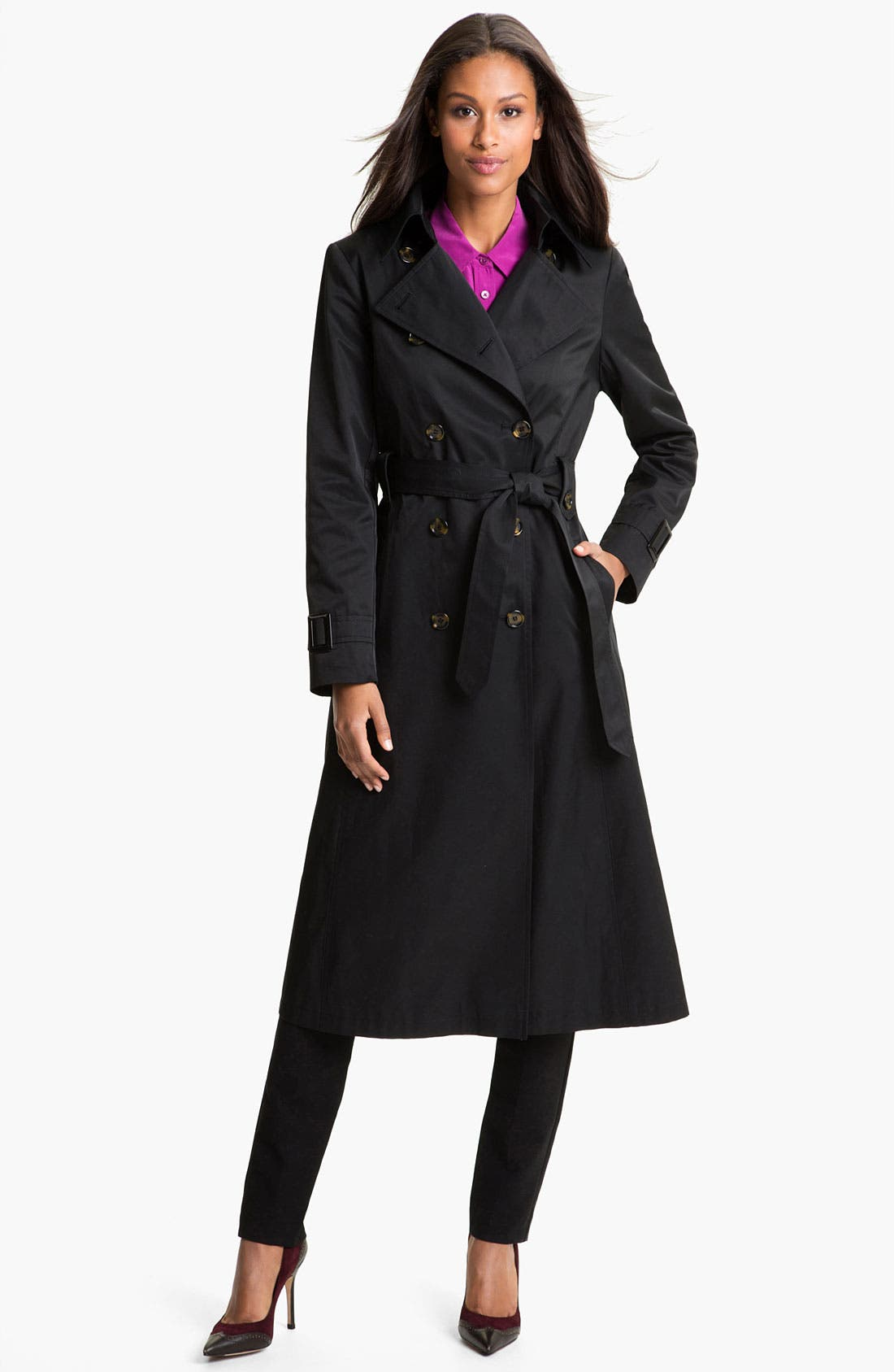 Main Image - DKNY Long Belted Trench