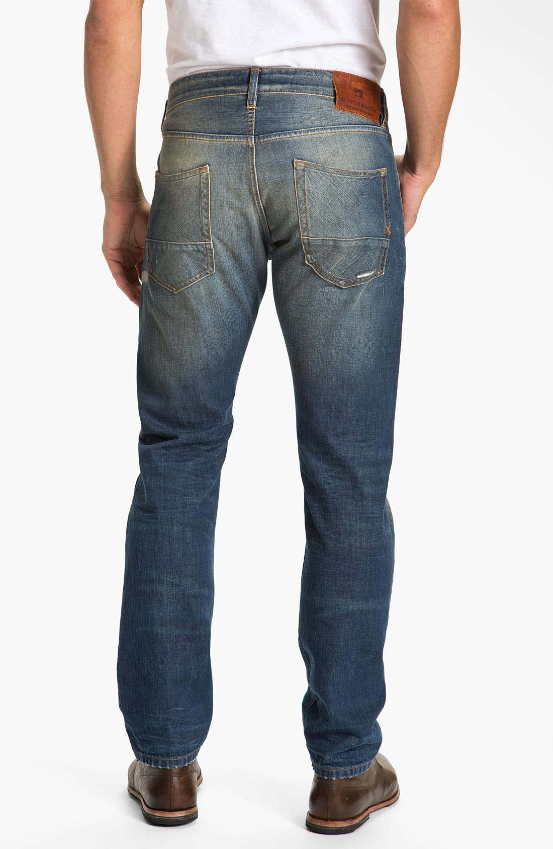 Main Image - Scotch & Soda 'Ralston' Slim Straight Leg Jeans (Downtown)