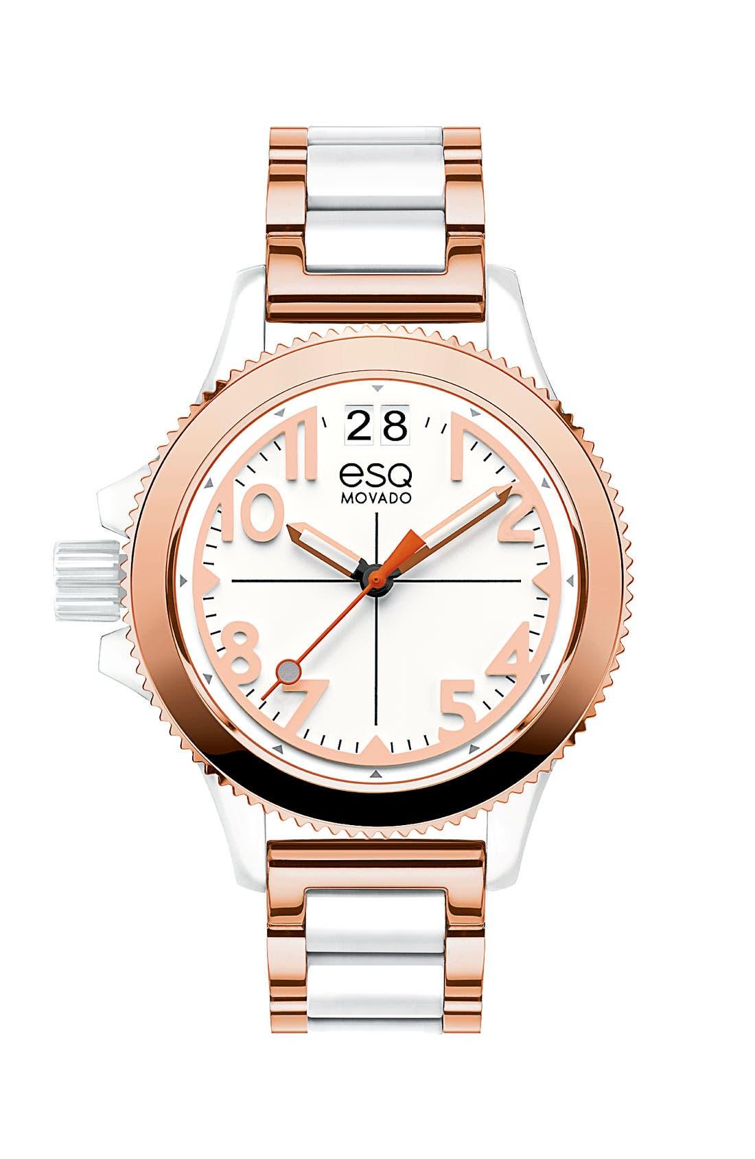 Main Image - ESQ Movado 'Fusion' Bracelet Watch, 36mm