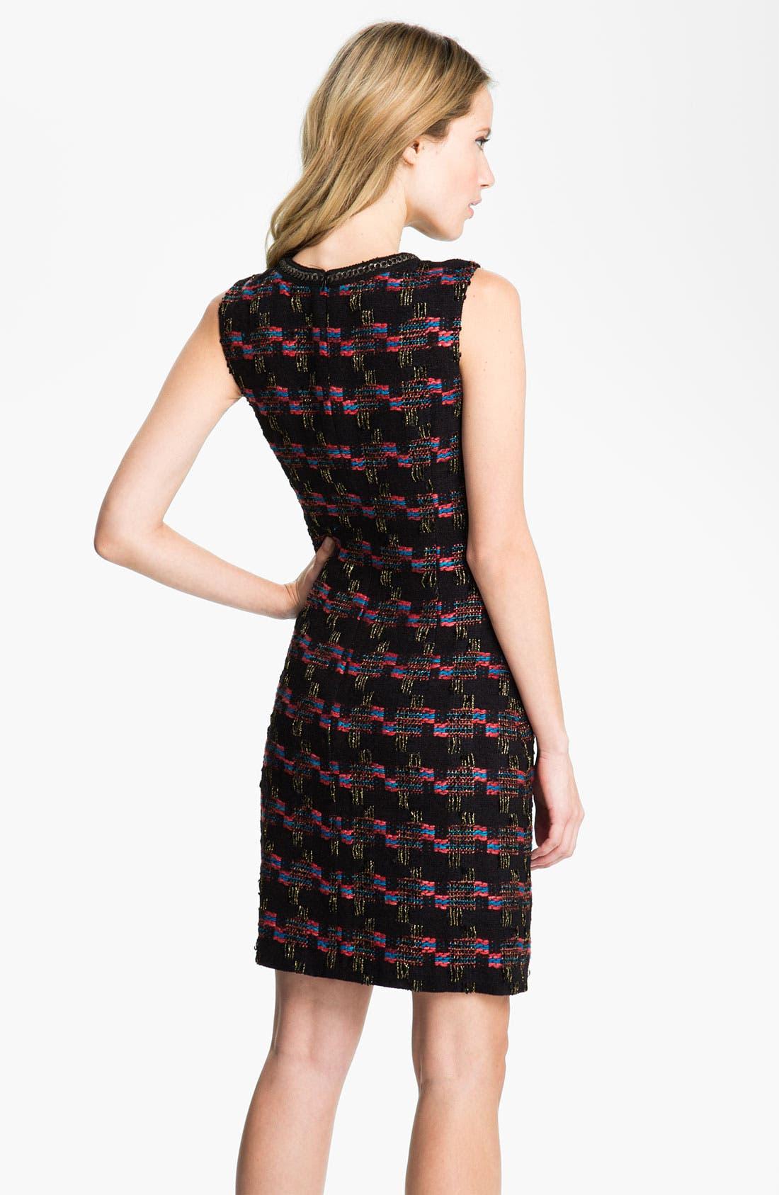 Alternate Image 2  - Trina Turk 'Good Night' Tweed Sheath Dress