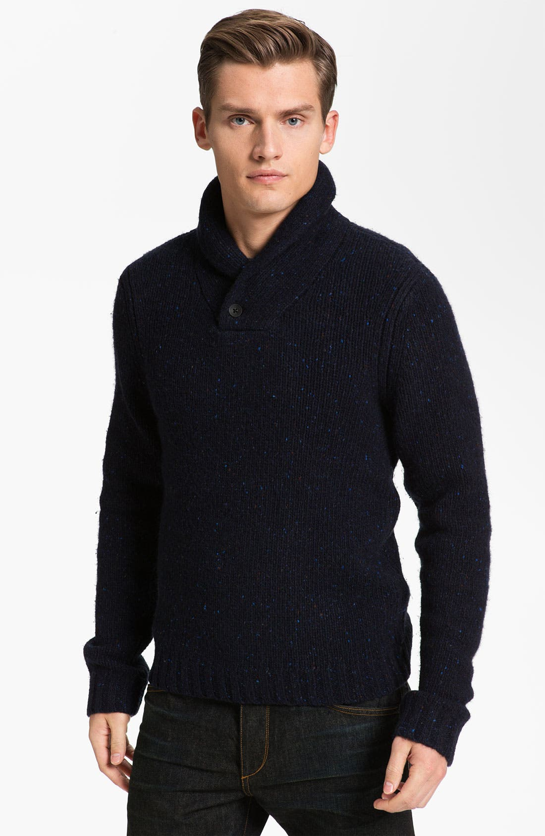 Main Image - rag & bone 'Vail' Donegal Knit Shawl Collar Sweater