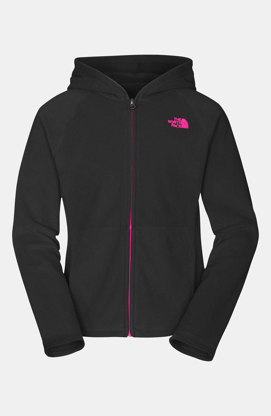 Main Image - The North Face 'Glacier' Full Zip Hoodie (Little Girls)