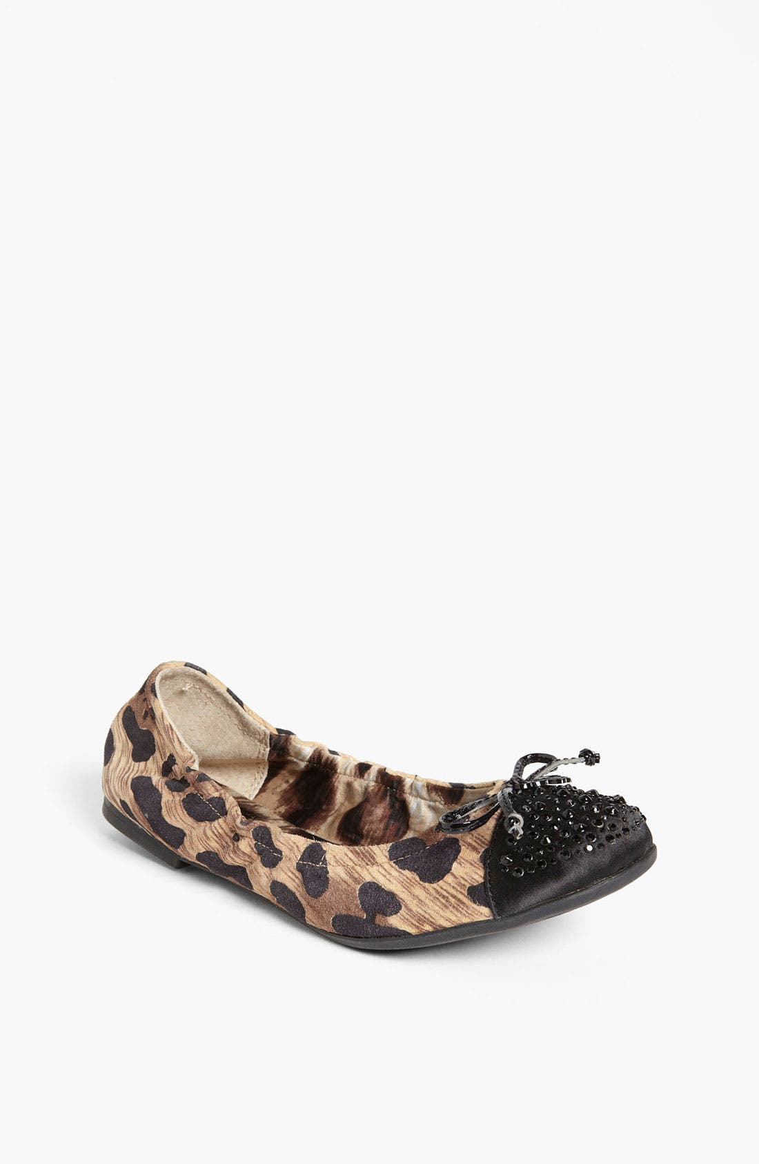 Alternate Image 1 Selected - Sam Edelman Leopard Print Flat (Toddler, Little Kid & Big Kid)
