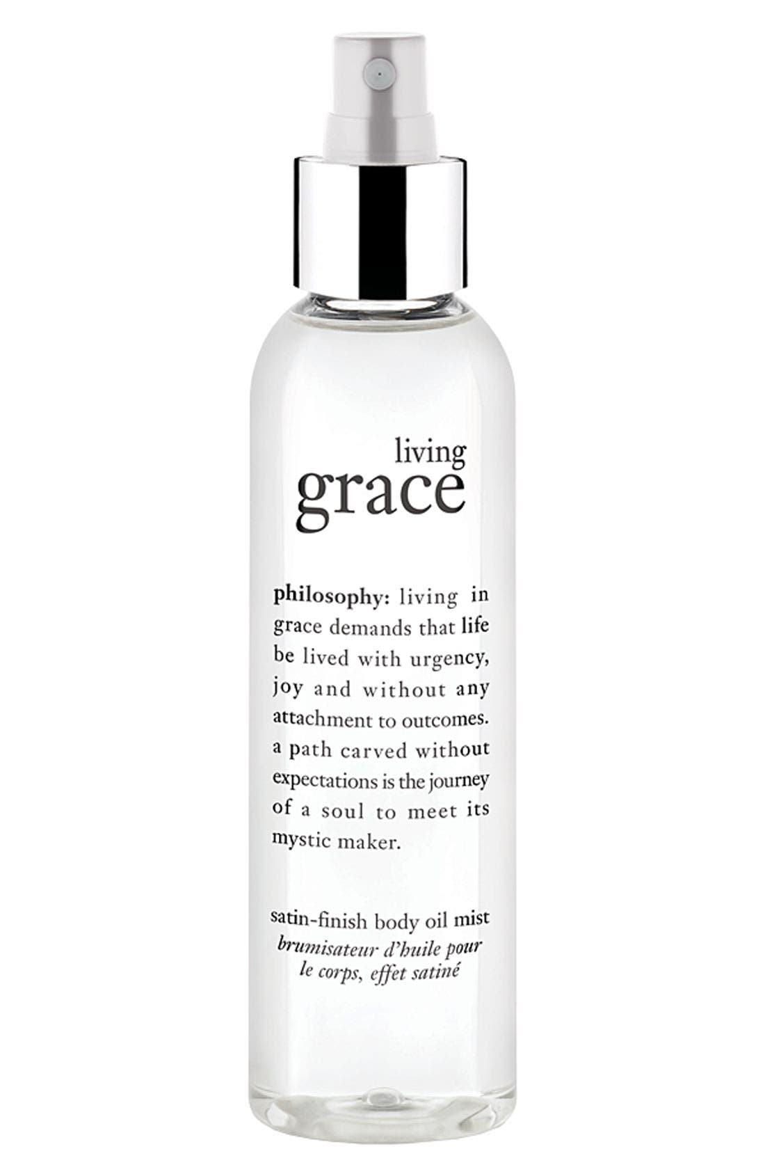 philosophy 'living grace' satin finish body oil mist