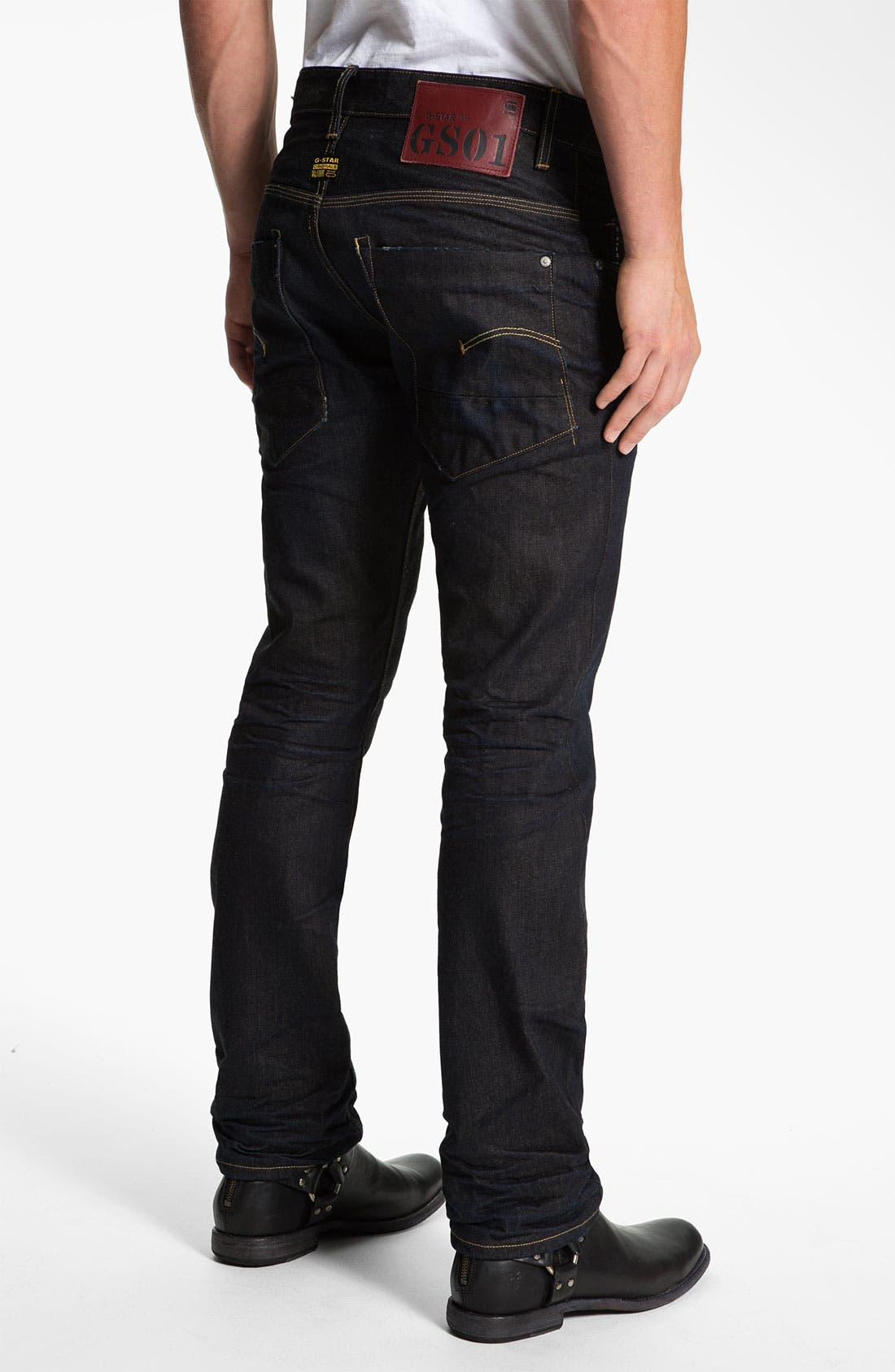 Alternate Image 1 Selected - G-Star Raw 'New Rader' Straight Leg Jeans (3D Dark Aged)